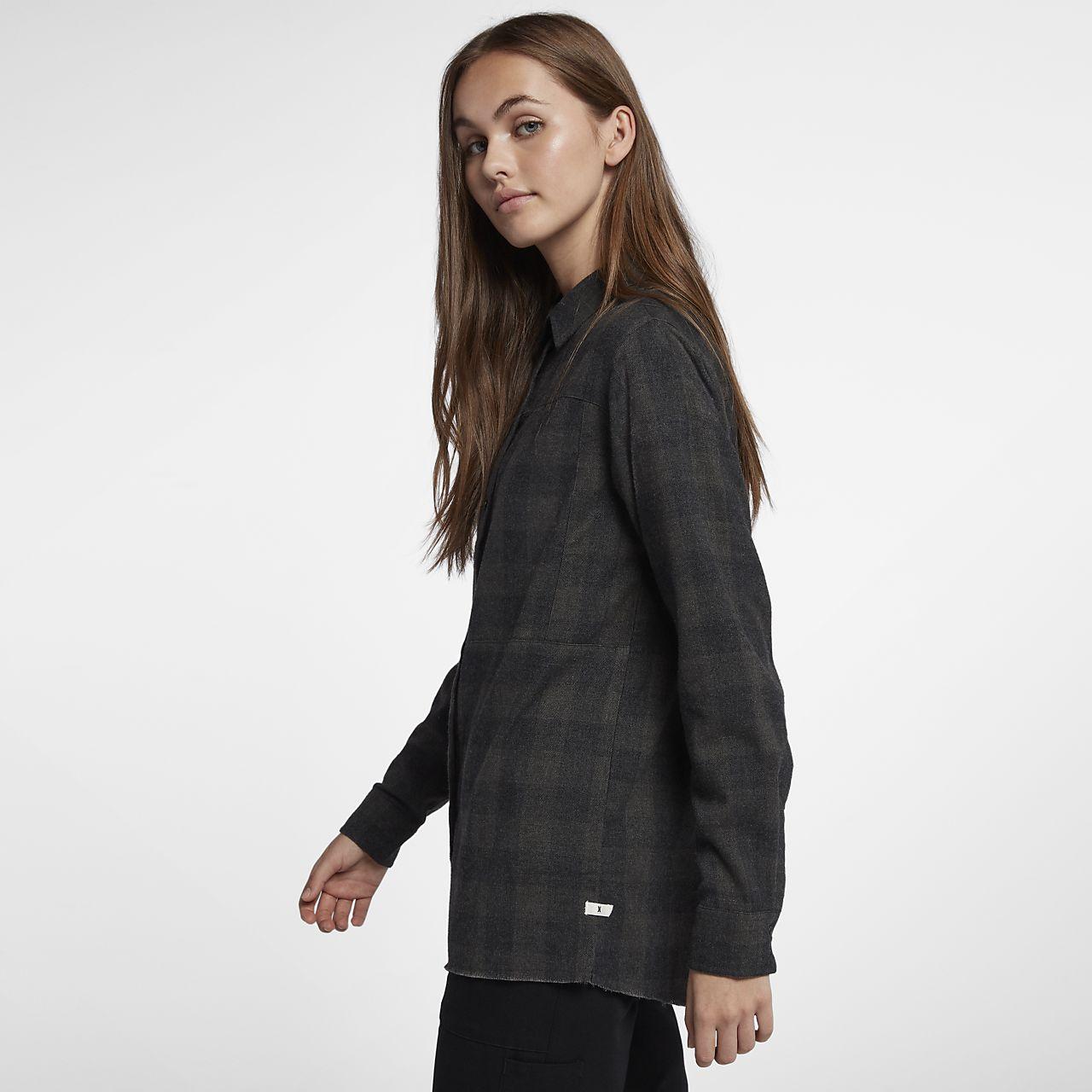 16230deaff2 Женская фланелевая рубашка с длинным рукавом Hurley Wilson. Nike.com RU