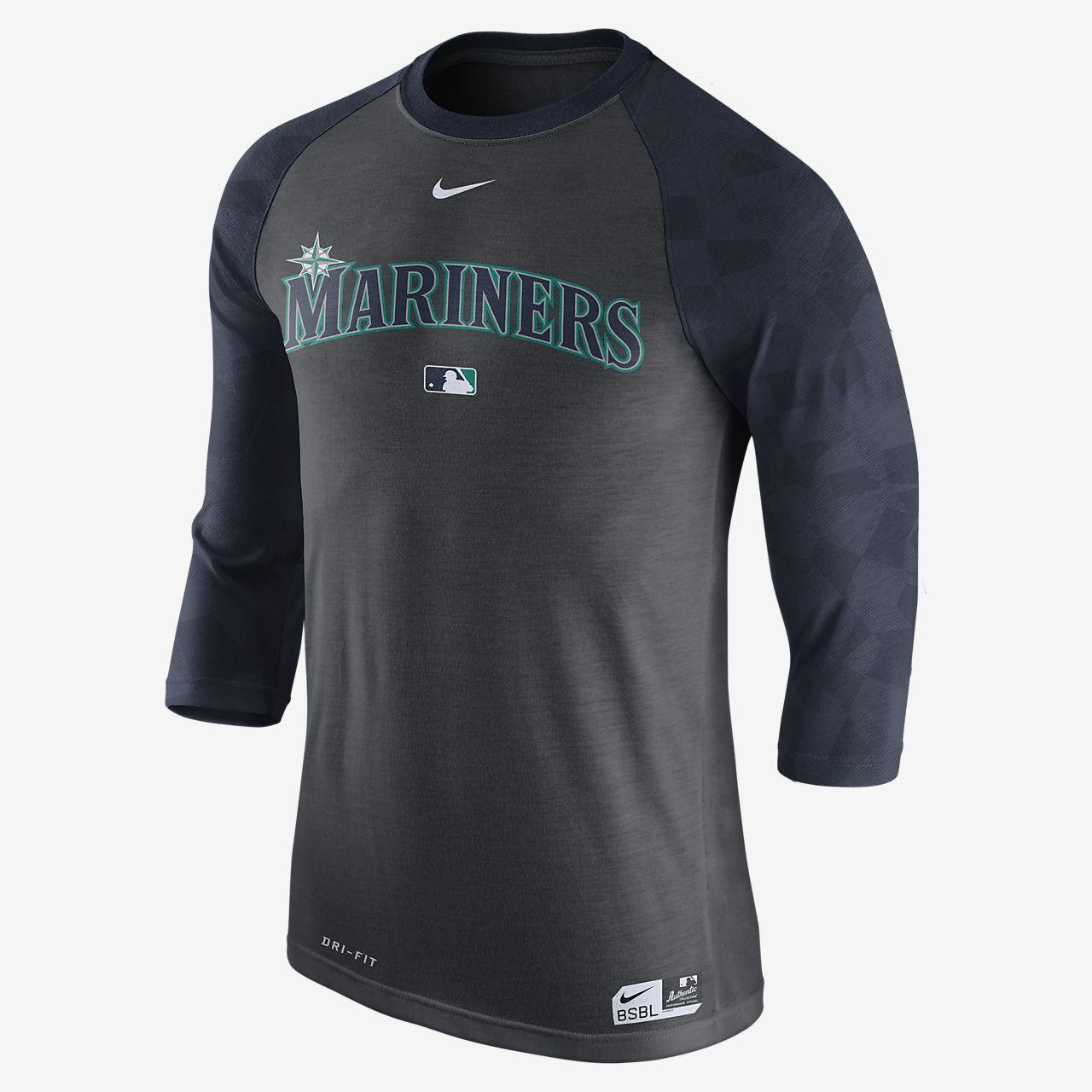 Nike Legend Raglan (MLB Mariners) Men's 3/4 Sleeve Top Black