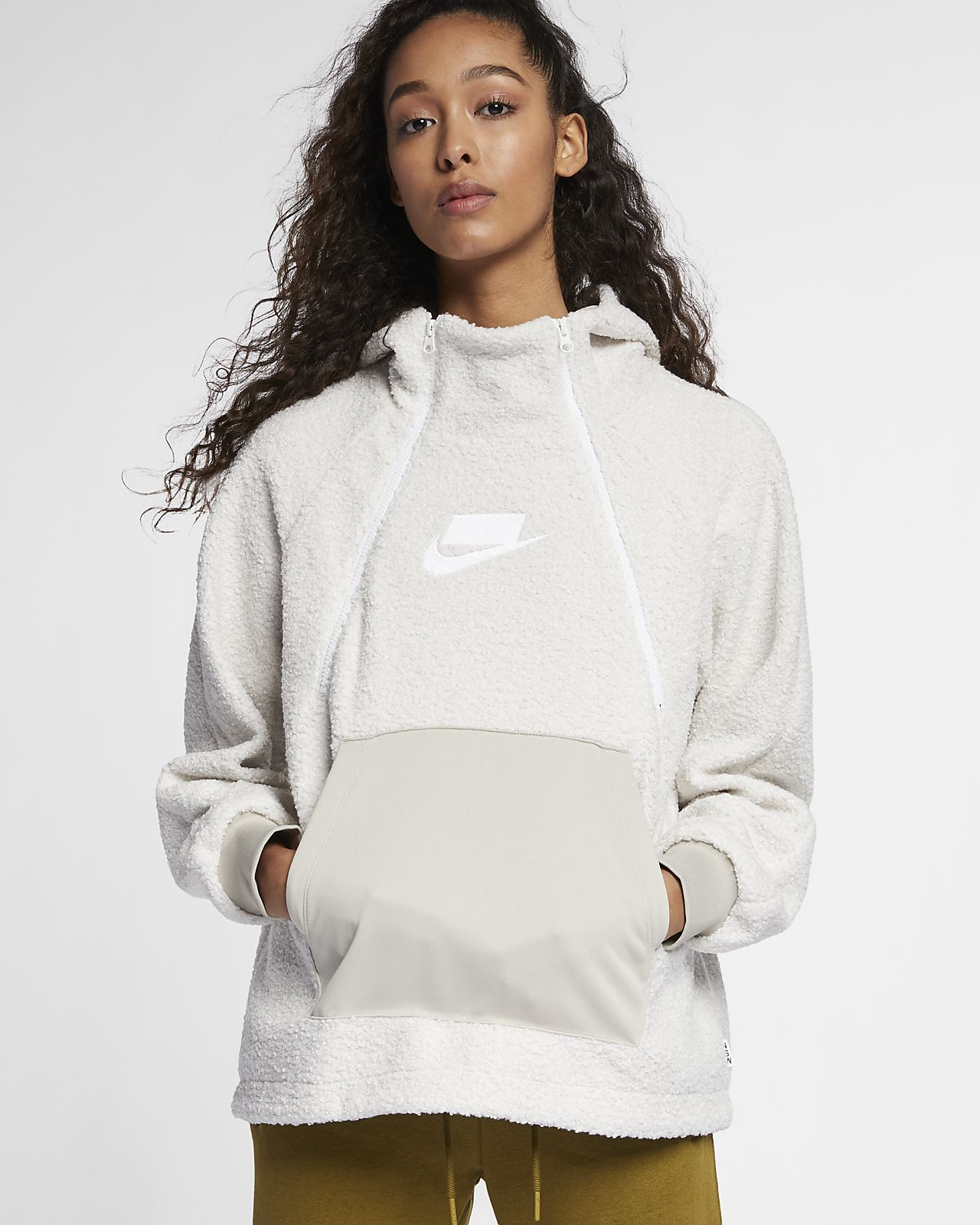 Женская худи из материала Sherpa Nike Sportswear NSW