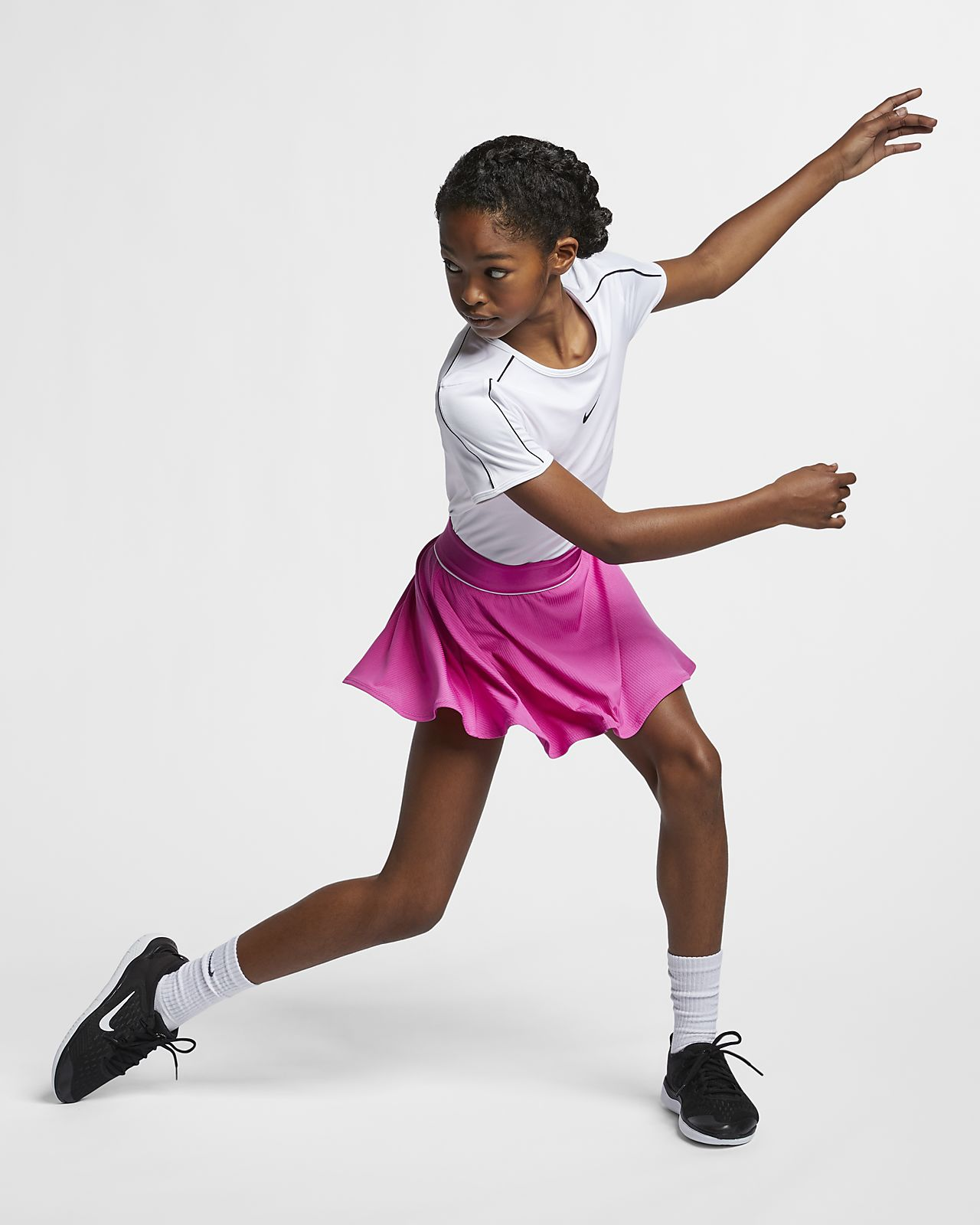 29fb4349f ... Prenda para la parte superior de tenis para niña talla grande NikeCourt  Dri-FIT