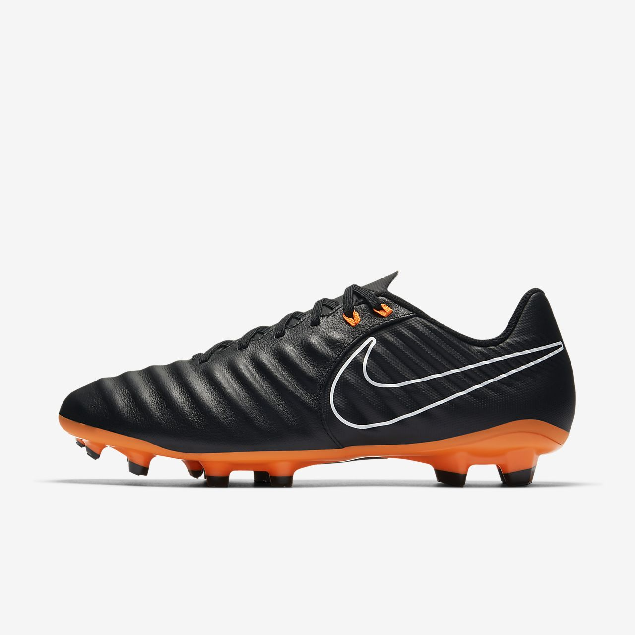 Legend 7 Club (FG) Football Boots - Black/Orange OGhemCj97