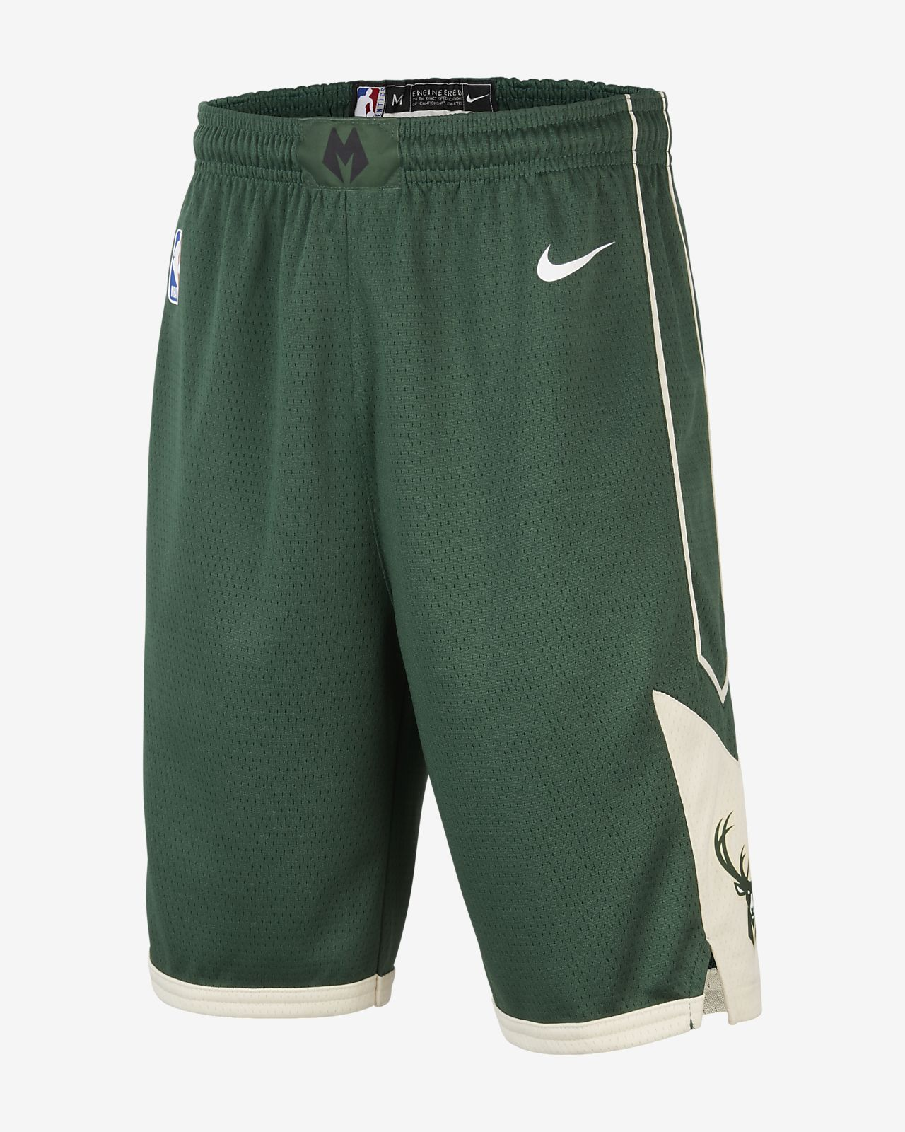 Milwaukee Bucks Nike Icon Edition Swingman NBA-jongensshorts
