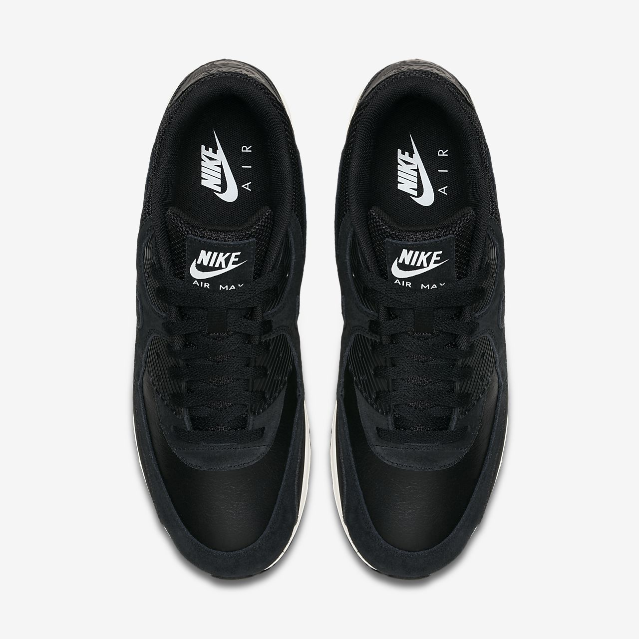 mannen's Nike Air Max 90 BlackSummit White Trainers On Sale