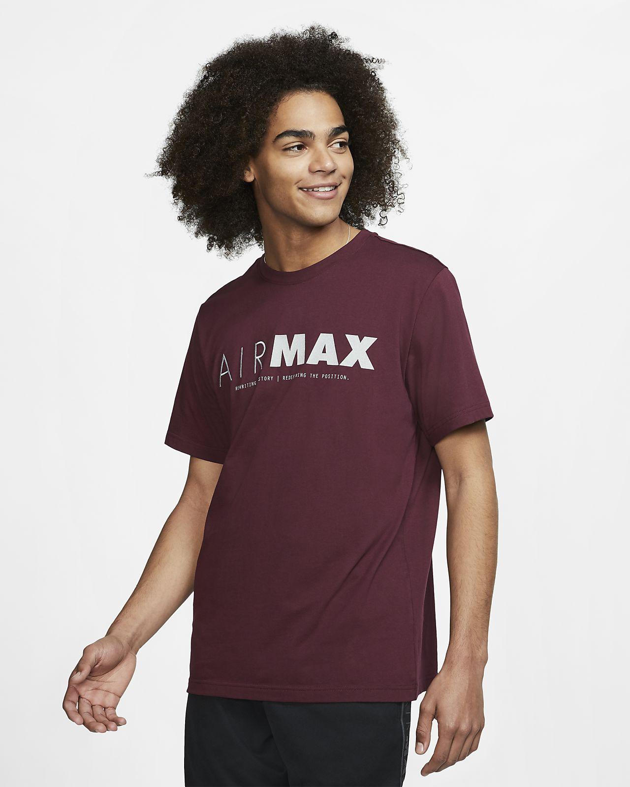 Pánské tričko s krátkým rukávem Nike Sportswear Air Max s grafickým motivem Pánské tričko s krátkým rukávem Nike Sportswear Air Max s grafickým motivem