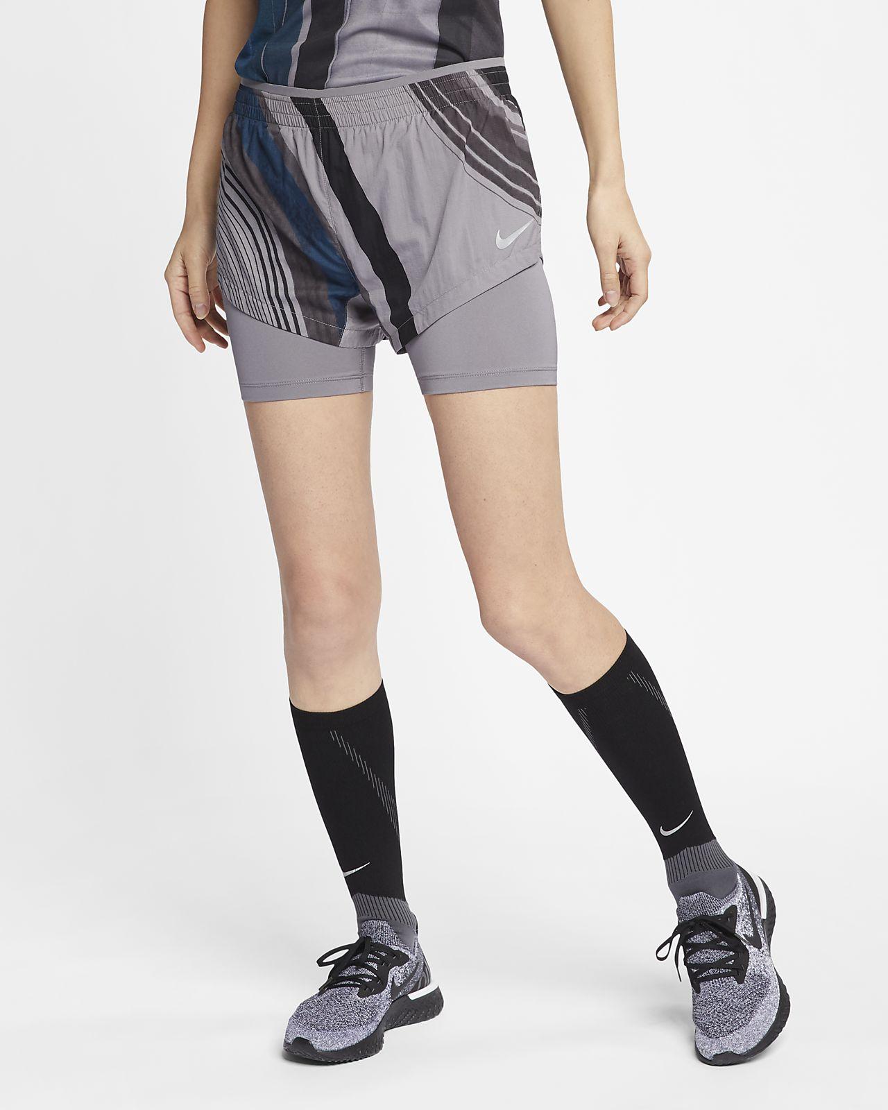 Nike 2-in-1-Laufshorts für Damen