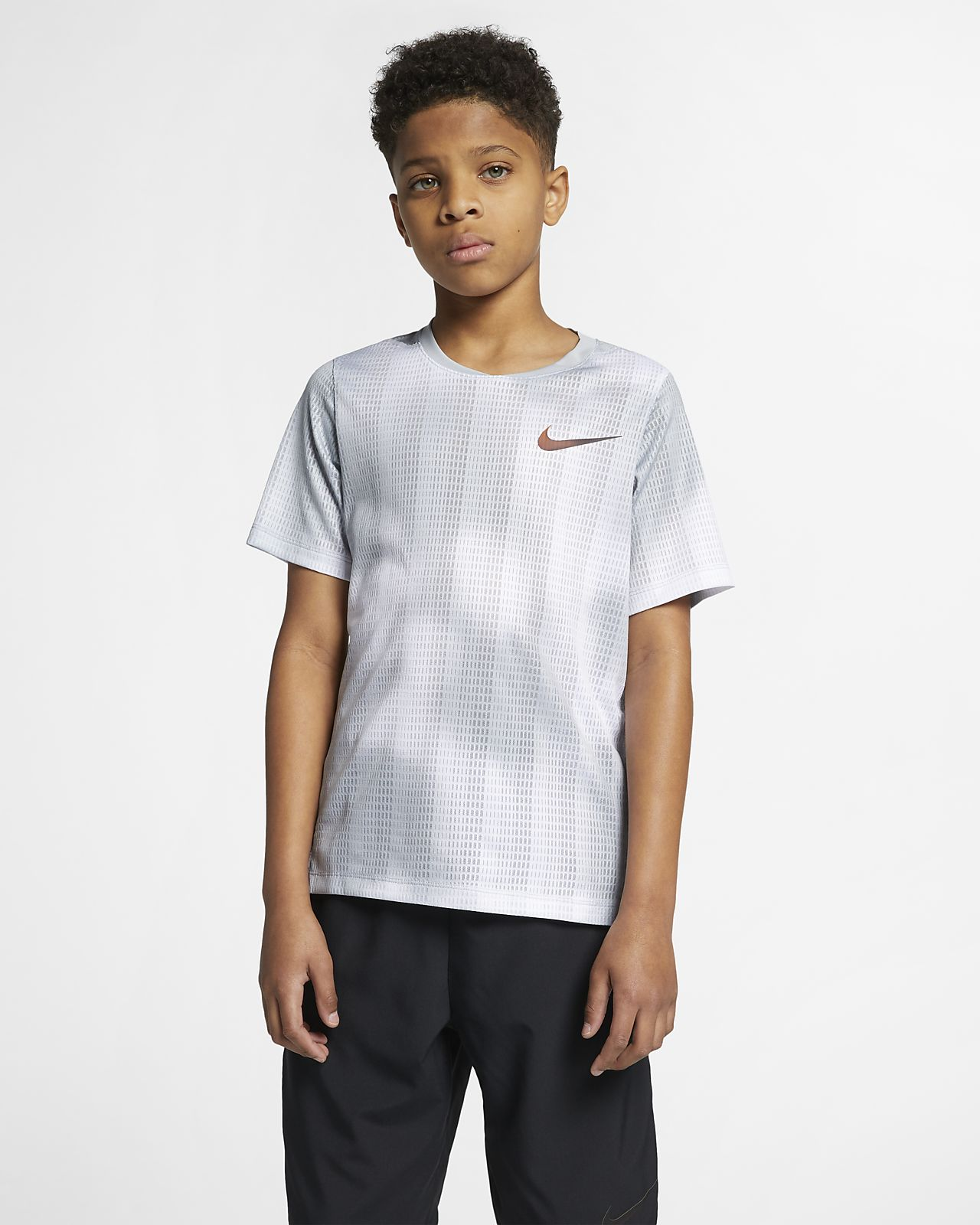 เสื้อเทรนนิ่งแขนสั้นเด็กโต Nike Instacool