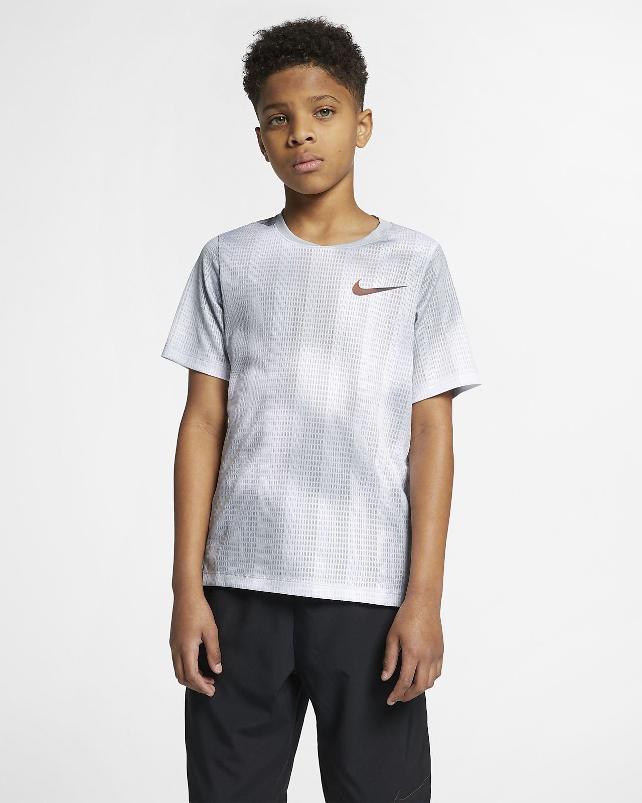 Tréninkové tričko Nike Instacool s krátkým rukávem pro větší děti