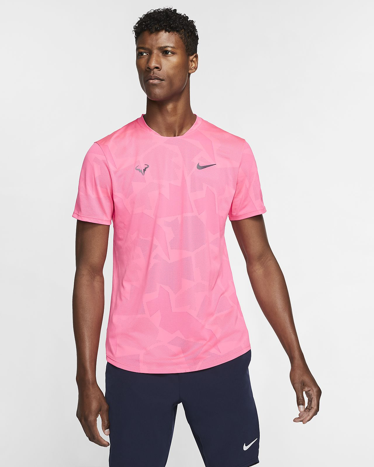 Pánské tenisové tričko NikeCourt AeroReact Rafa s krátkým rukávem