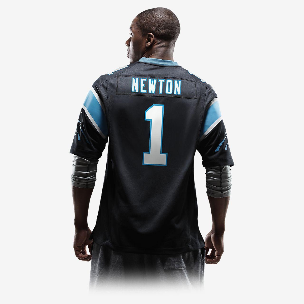 86b183f67c NFL Carolina Panthers (Cam Newton) Men s Football Home Game Jersey ...