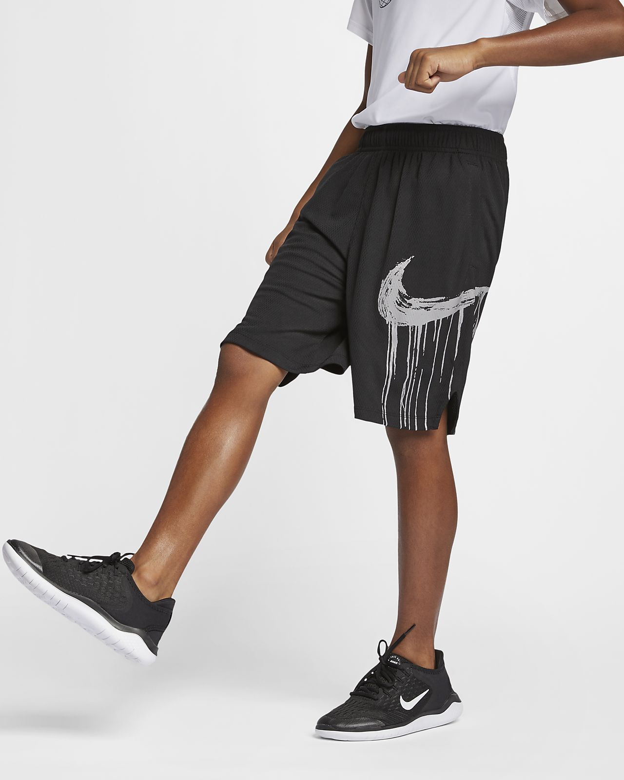 Shorts de entrenamiento con estampado gráfico para niños talla grande Nike Dri-FIT