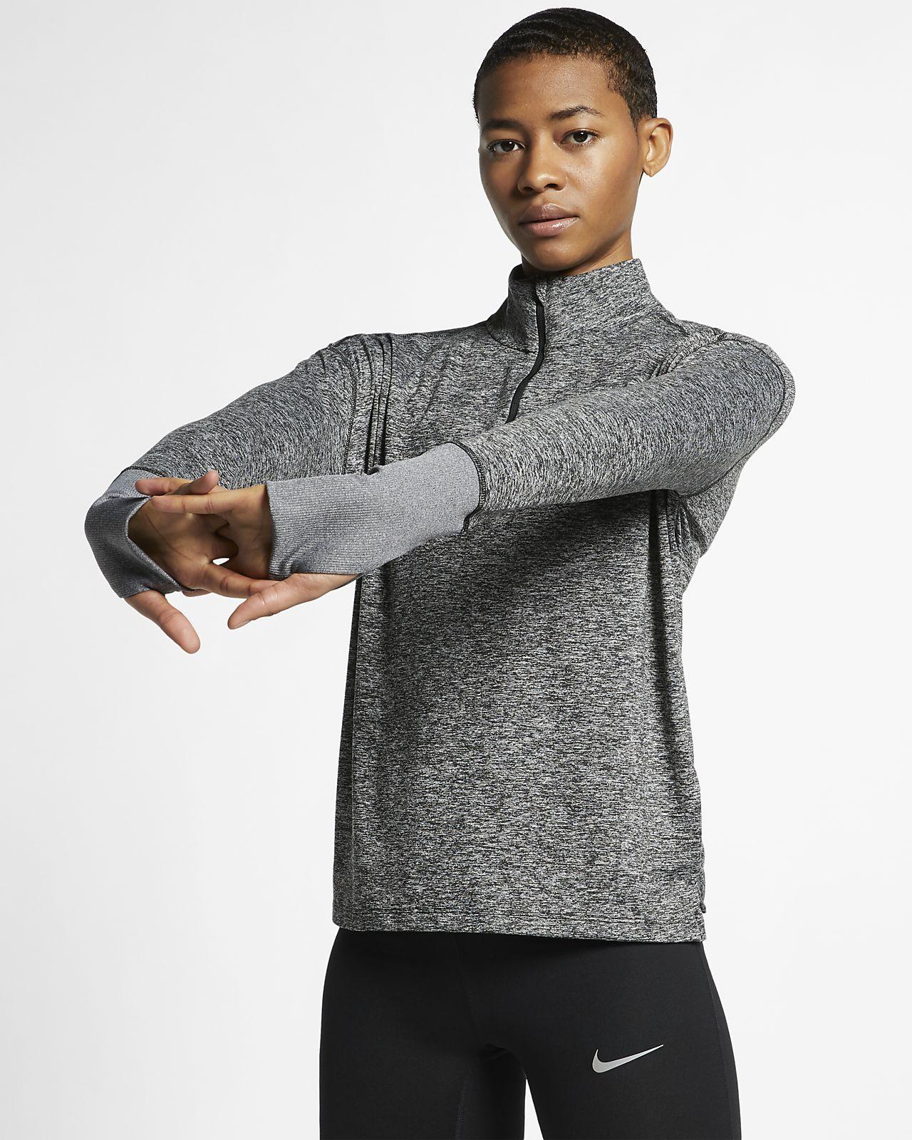 เสื้อวิ่งซิปสั้นผู้หญิง Nike Element