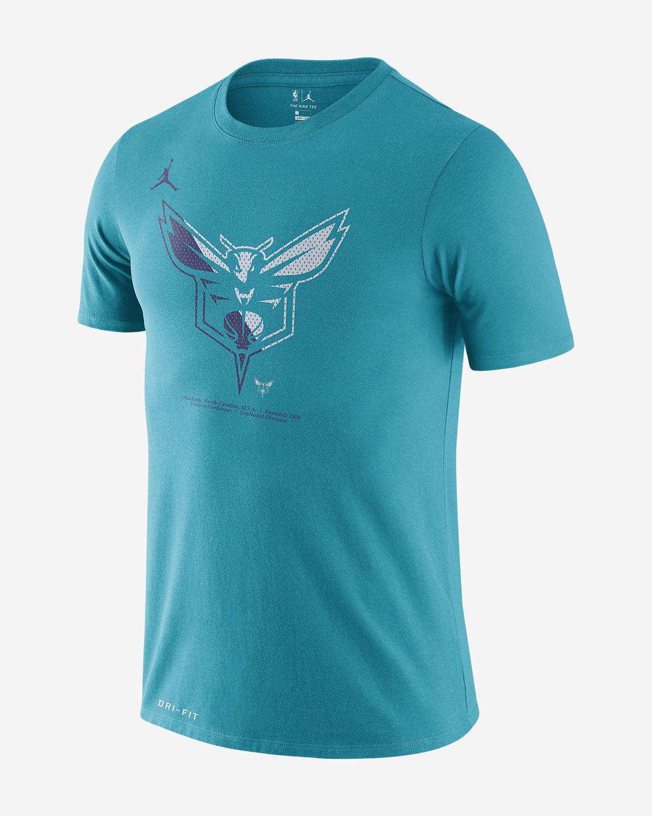 T-shirt NBA Charlotte Hornets Jordan Dri-FIT para homem