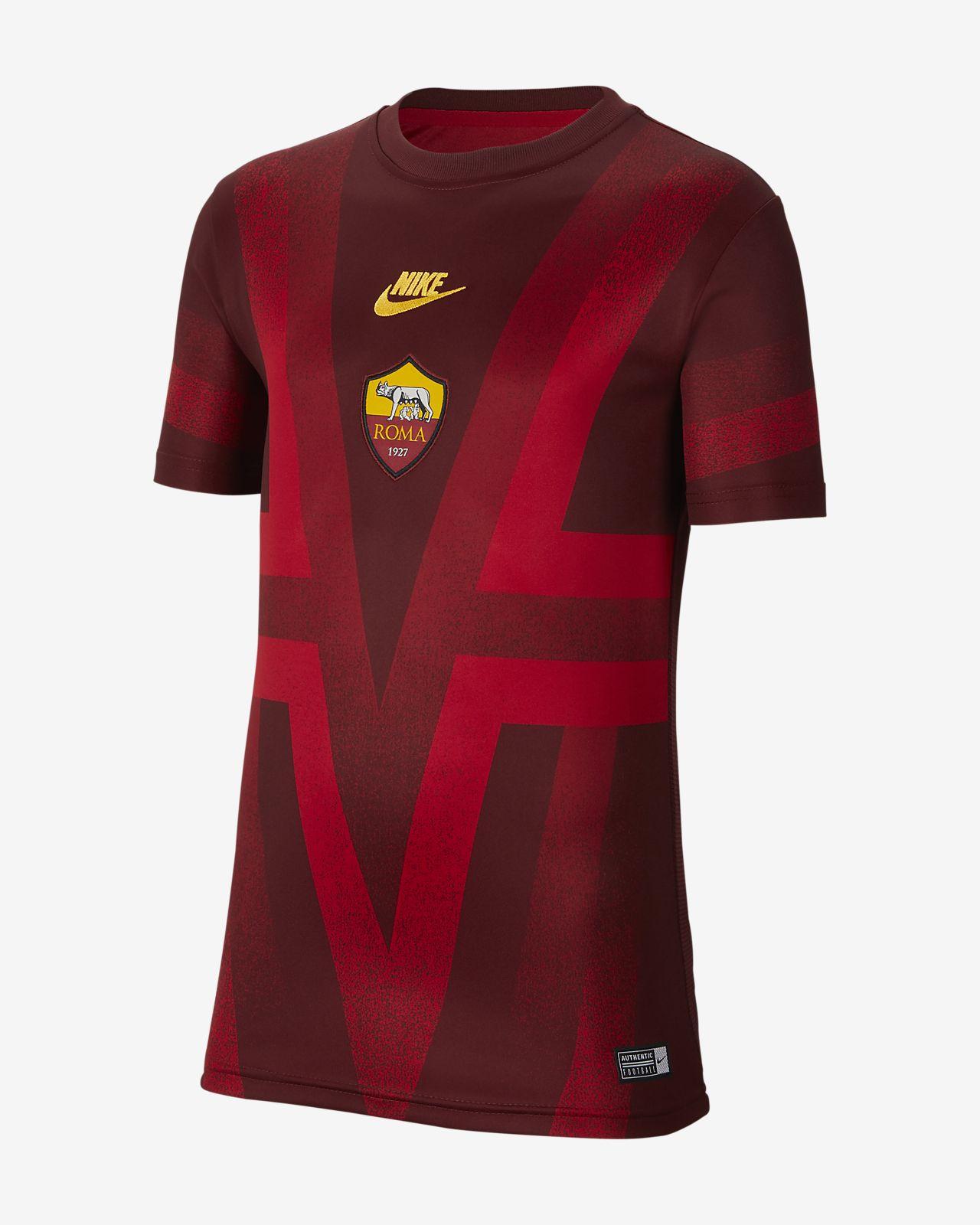Koszulka piłkarska z krótkim rękawem dla dużych dzieci A.S. Roma