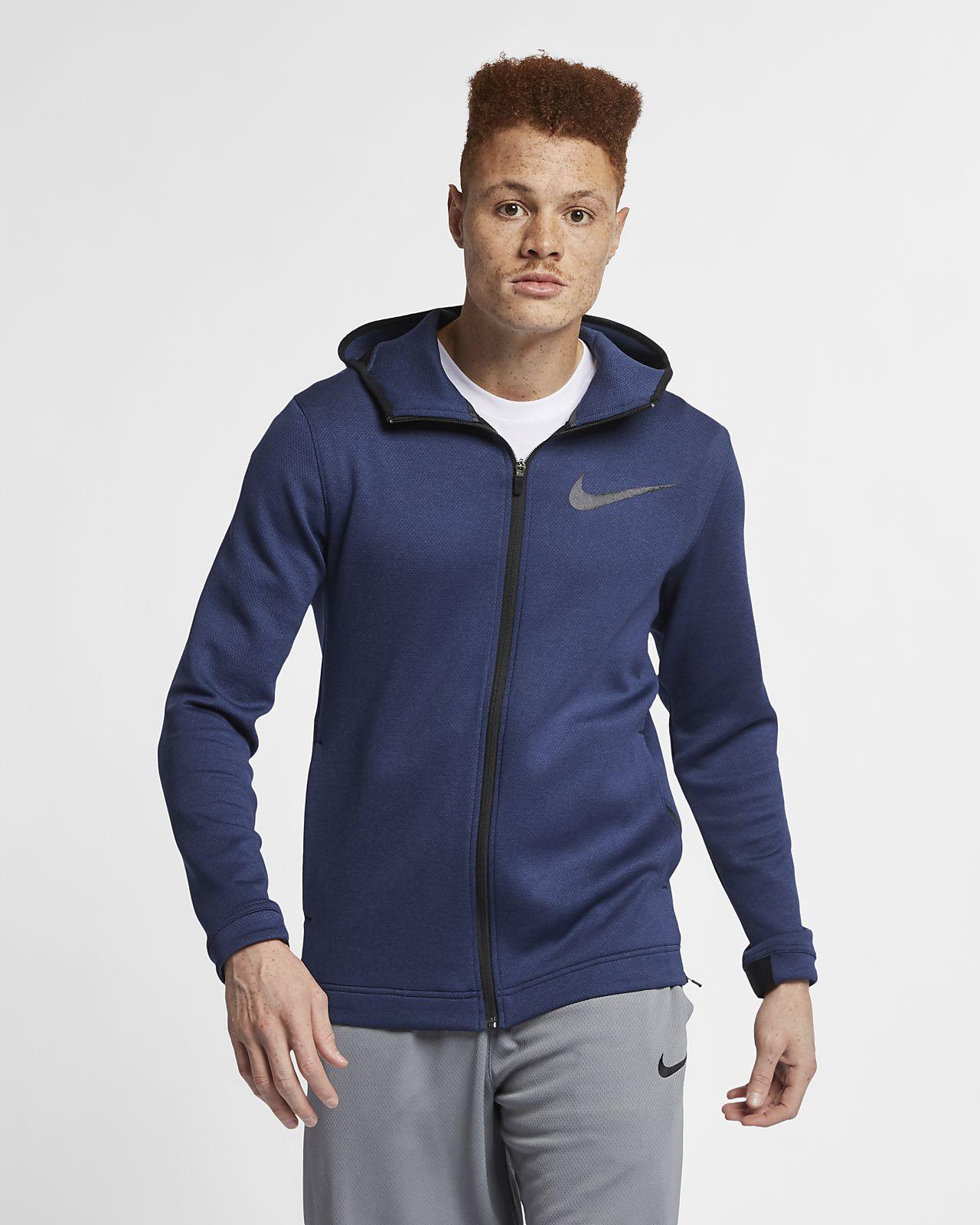 Sudadera con capucha de básquetbol de cierre completo para hombre Nike Therma Flex Showtime