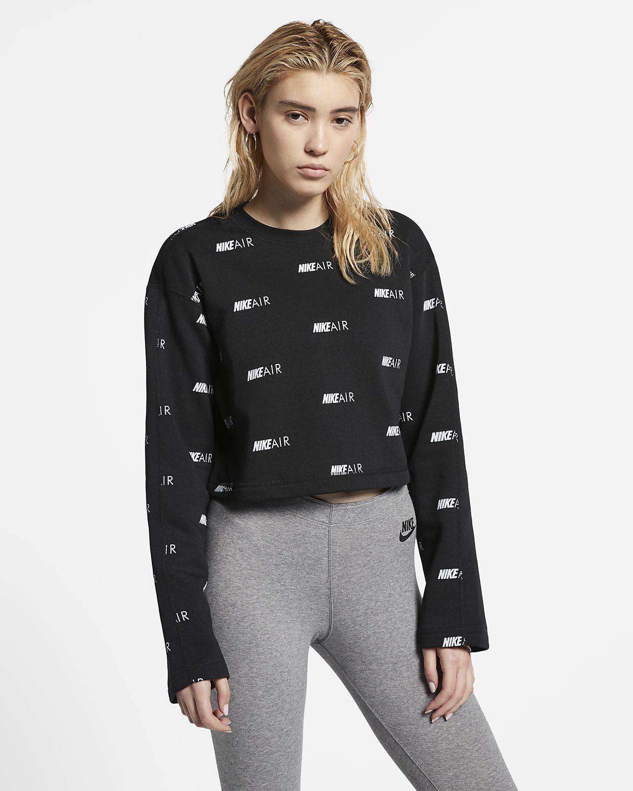 Nike Air Fleece Rundhalsshirt mit Print für Damen