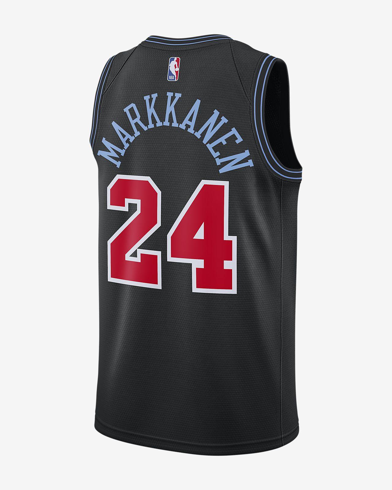 26656e37d ... Lauri Markkanen City Edition Swingman (Chicago Bulls) Men s Nike NBA  Connected Jersey