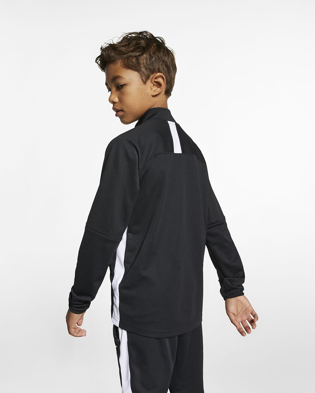 Nike Kinder Fussball Freizeit Trainingsanzug Dri-Fit Academy Tracksuit 2 schwarz