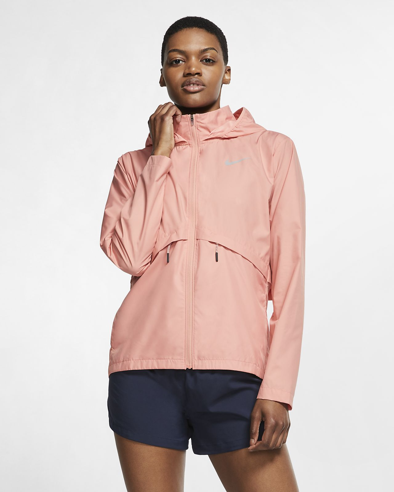 Chamarra impermeable de running plegable para mujer Nike Essential