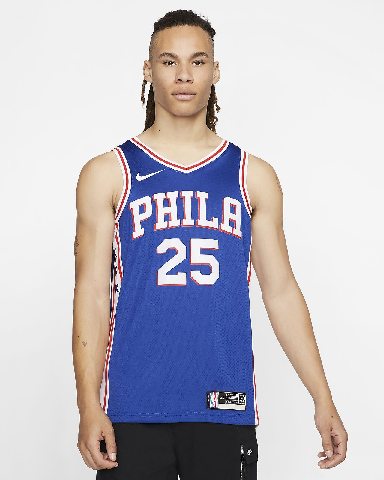 online store 3af54 2bfa3 Ben Simmons Icon Edition Swingman (Philadelphia 76ers) Men's Nike NBA  Connected Jersey
