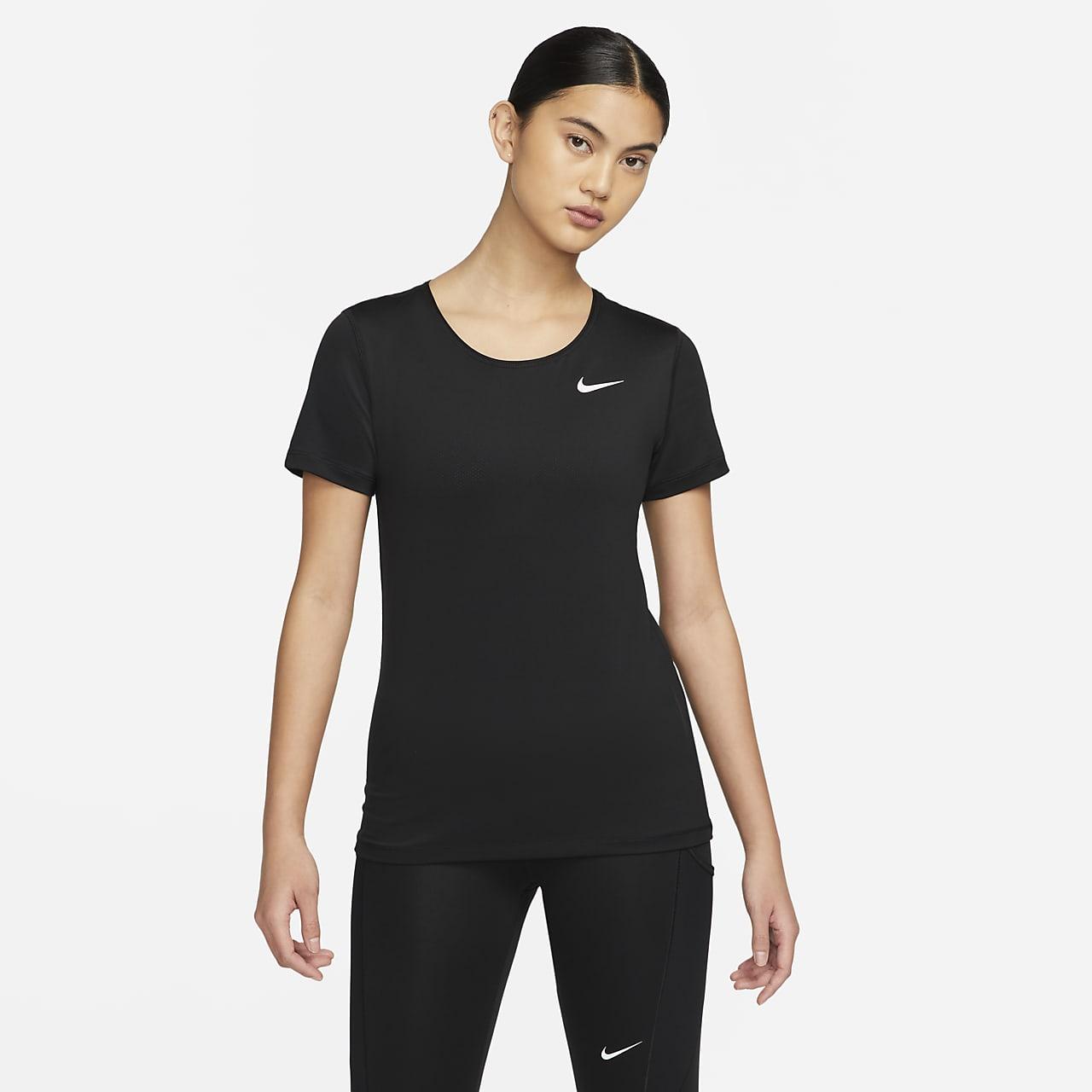 Haut de training à manches courtes Nike Pro pour Femme. Nike.com FR 6f09a35665c5