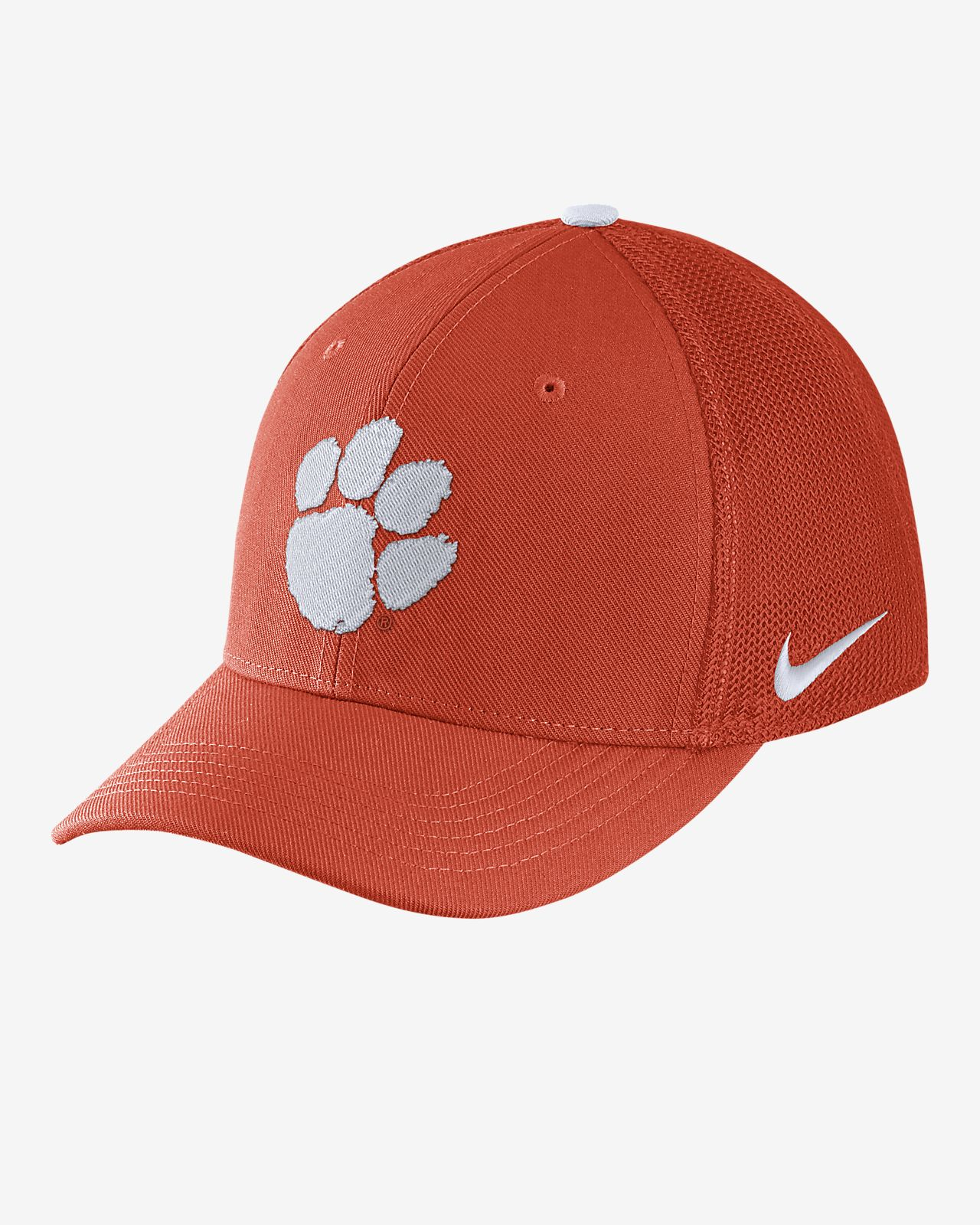 promo code 74b0c d6f4d ... new style nike college classic 99 swoosh flex clemson fitted hat 6220d  0a619