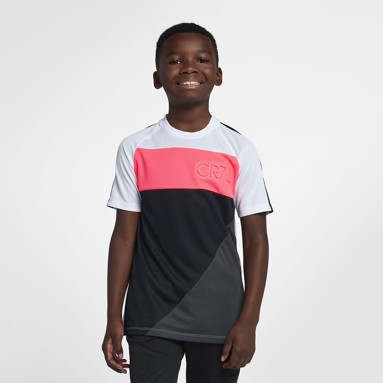 Nike Dri-FIT CR7 Kurzarm-Fußballoberteil für ältere Kinder (Jungen)
