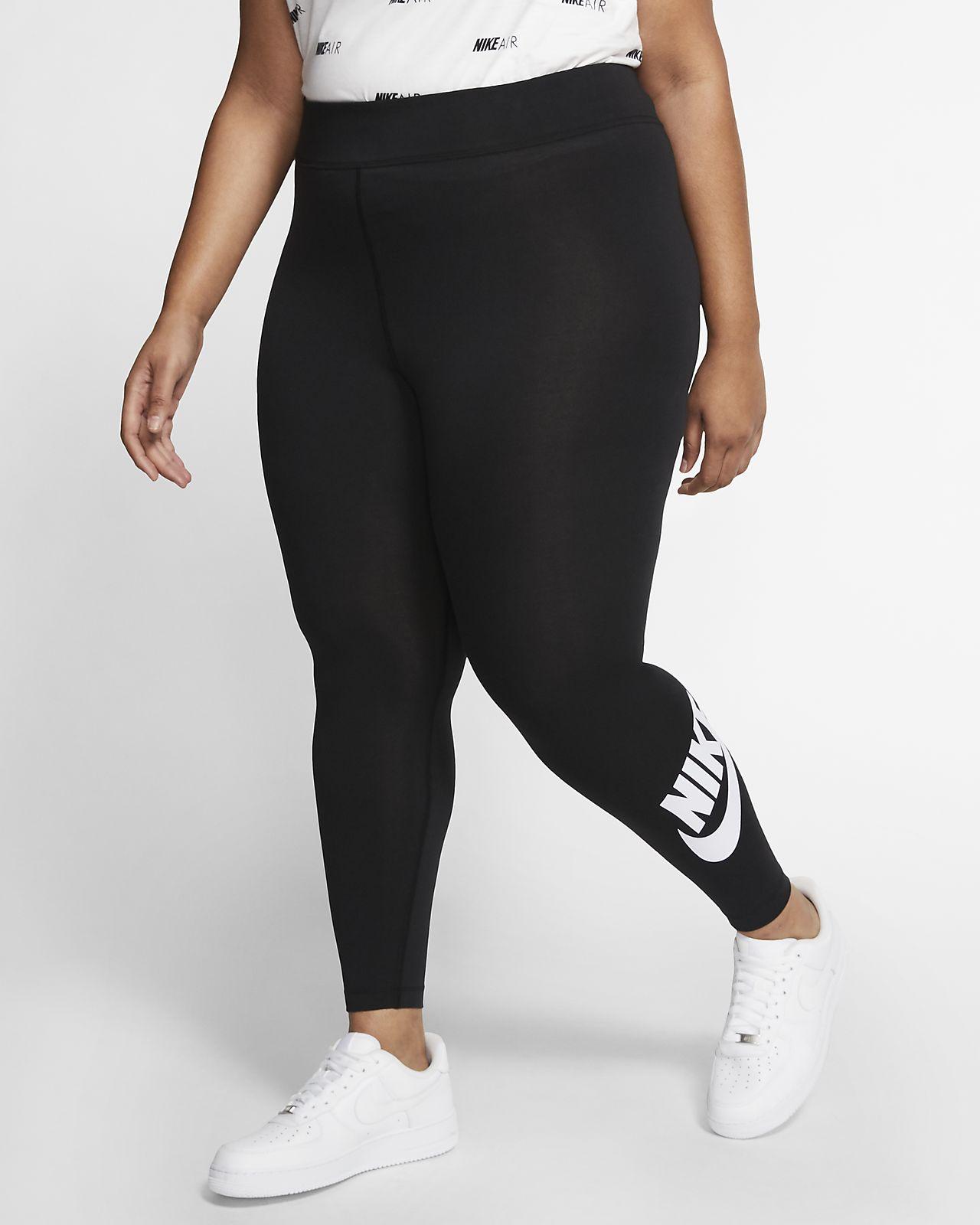 Dámské legíny s vysokým pasem Nike Sportswear Leg-A-See (větší velikost)
