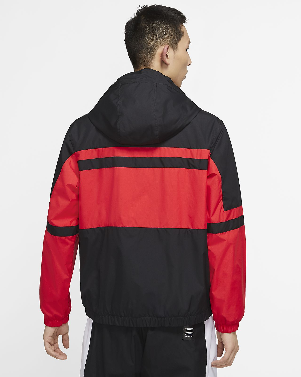 Shop Red Nike Air Woven Jacket for Men | NISNASS