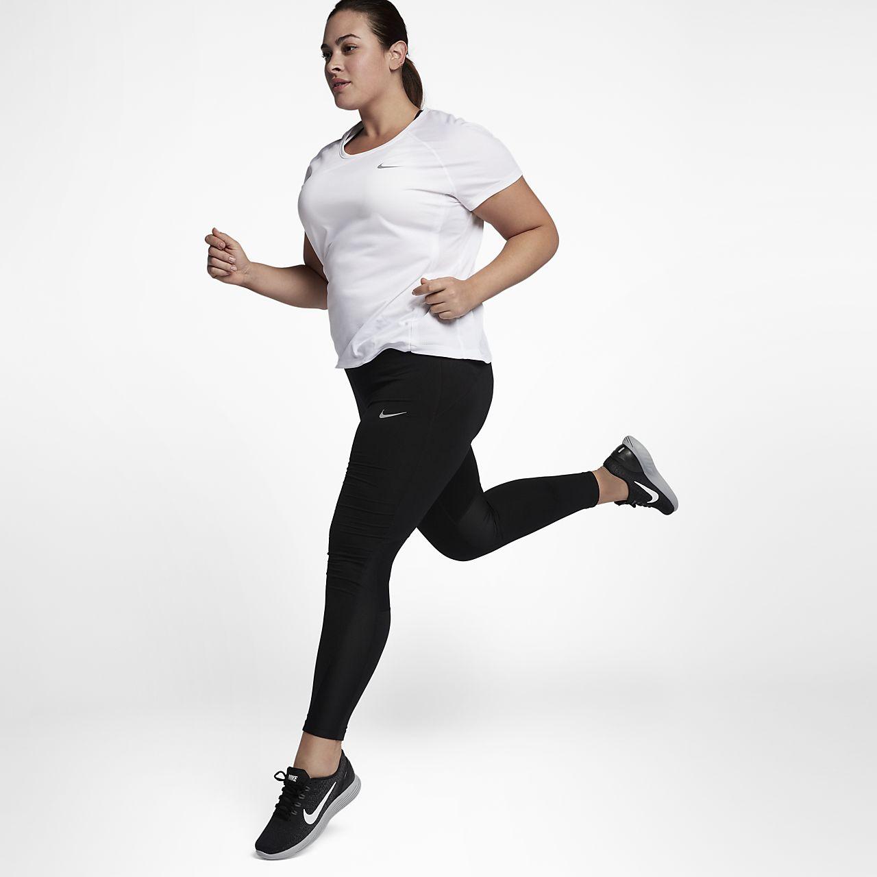 nike miler (plus size) women's short sleeve running top . nike