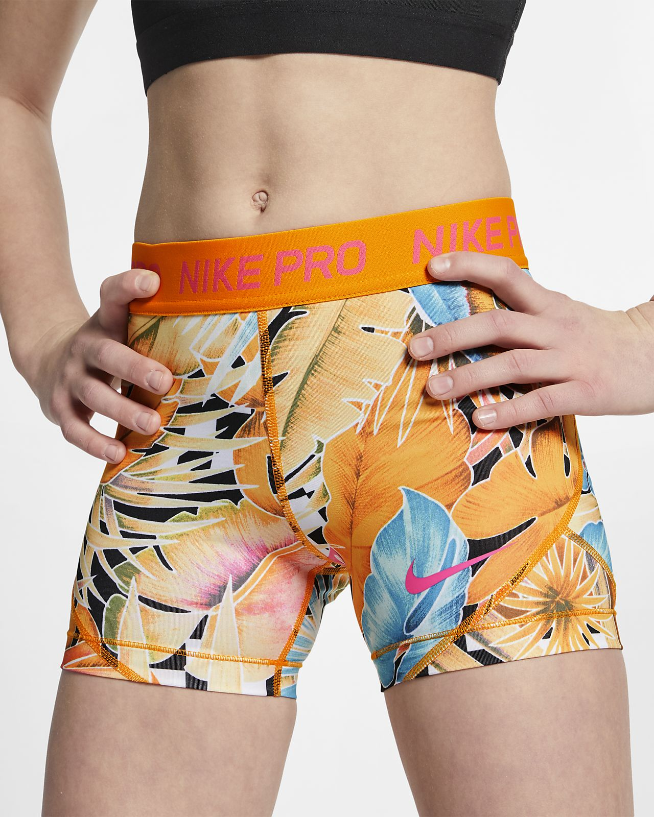Nike Pro Boyshorts met print voor meisjes