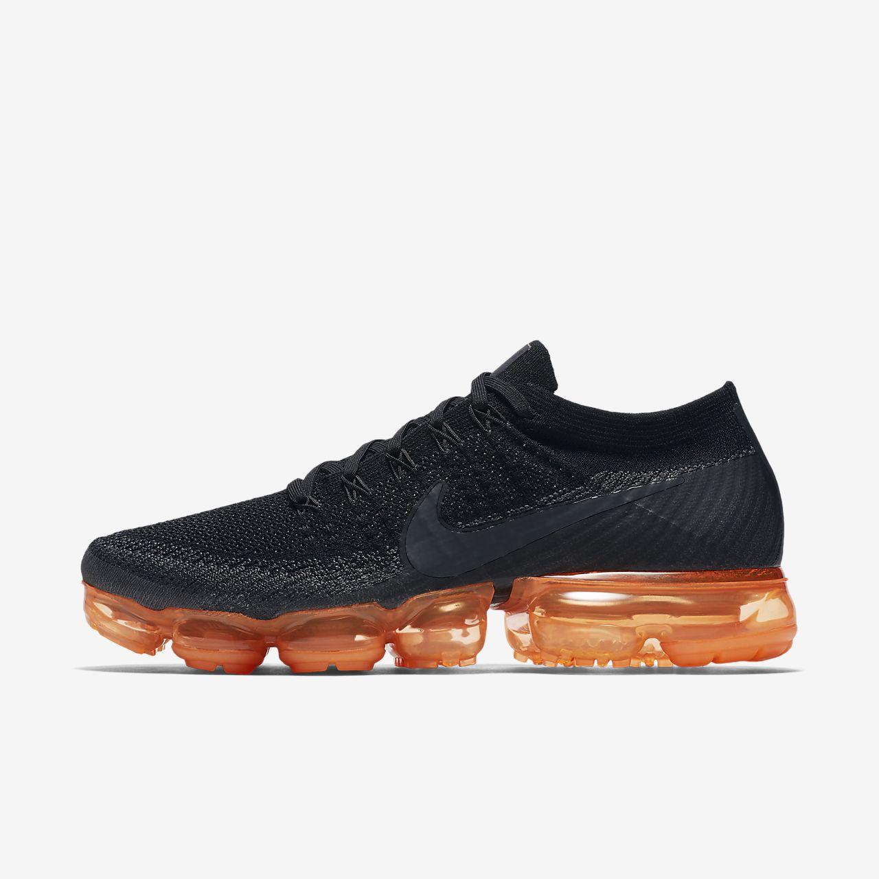 6dfa18428c7c7 Nike Air VaporMax Flyknit Black Pop Men s Shoe. Nike.com IN