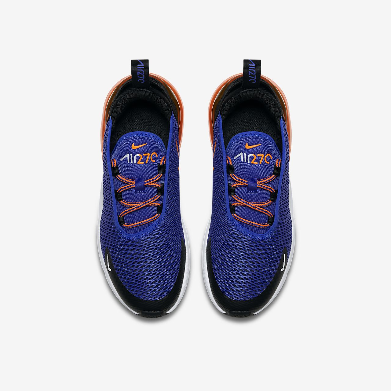 air max 270 blu e arancioni