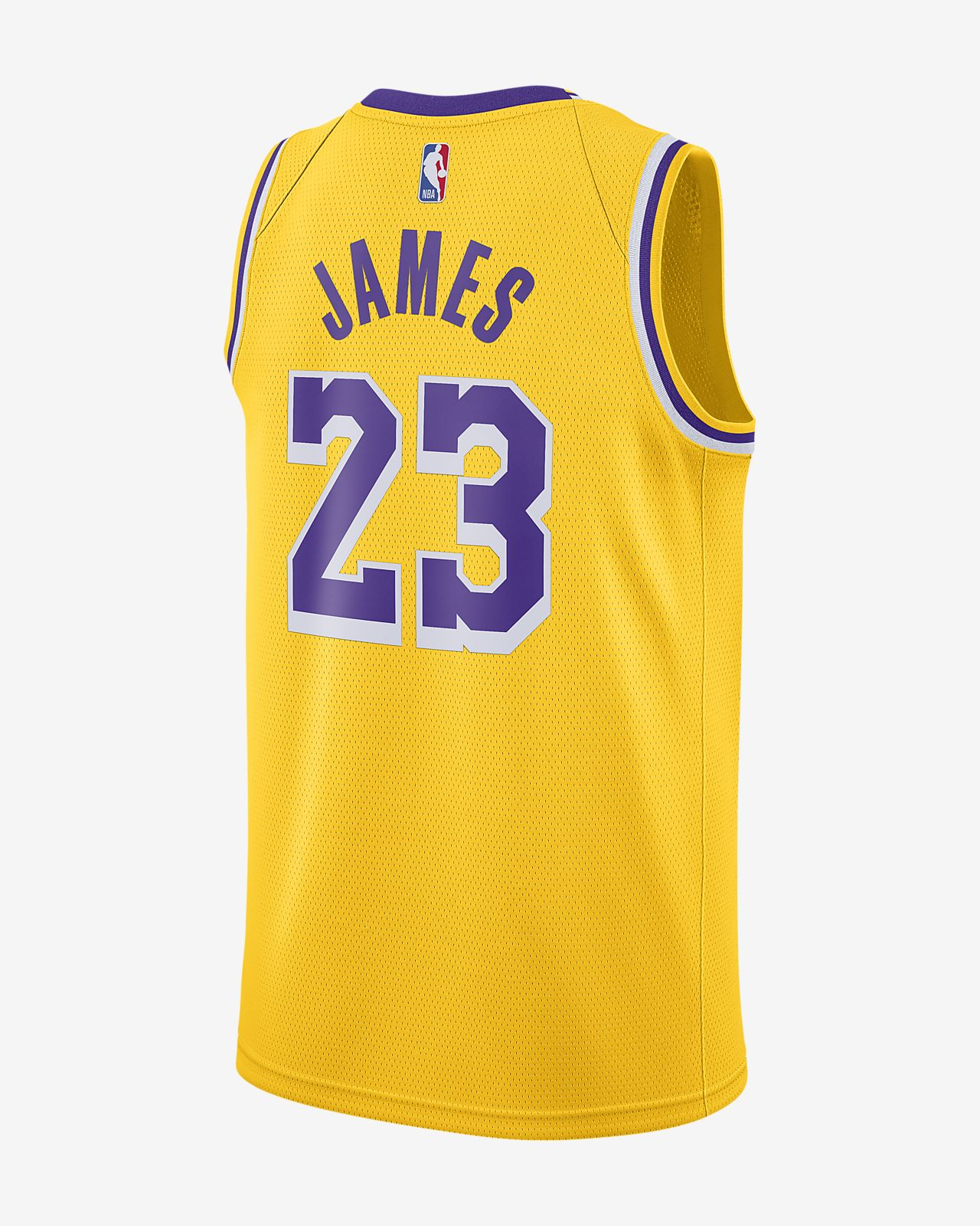 save off 50fa0 ea6e2 LeBron James Icon Edition Swingman (Los Angeles Lakers) Men's Nike NBA  Connected Jersey