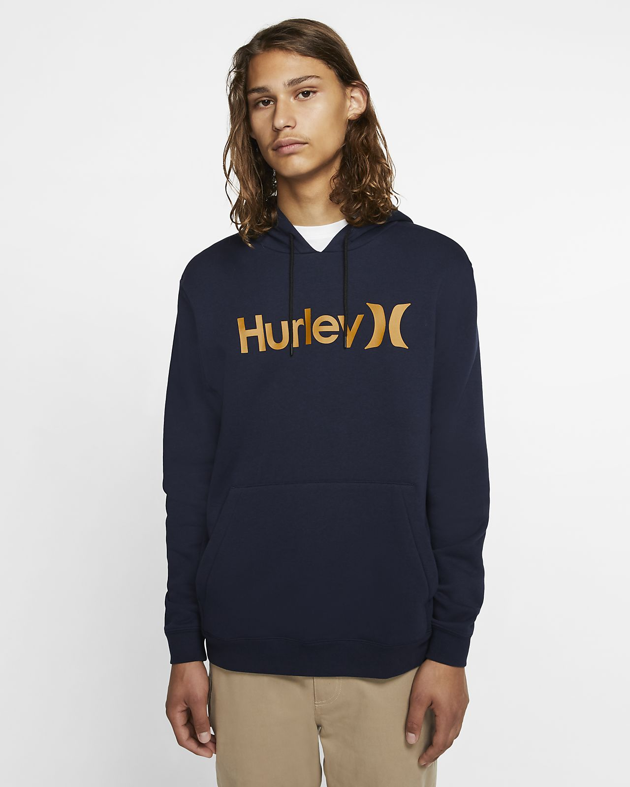 Sweat à capuche en tissu Fleece Hurley Surf Check One And Only pour Homme