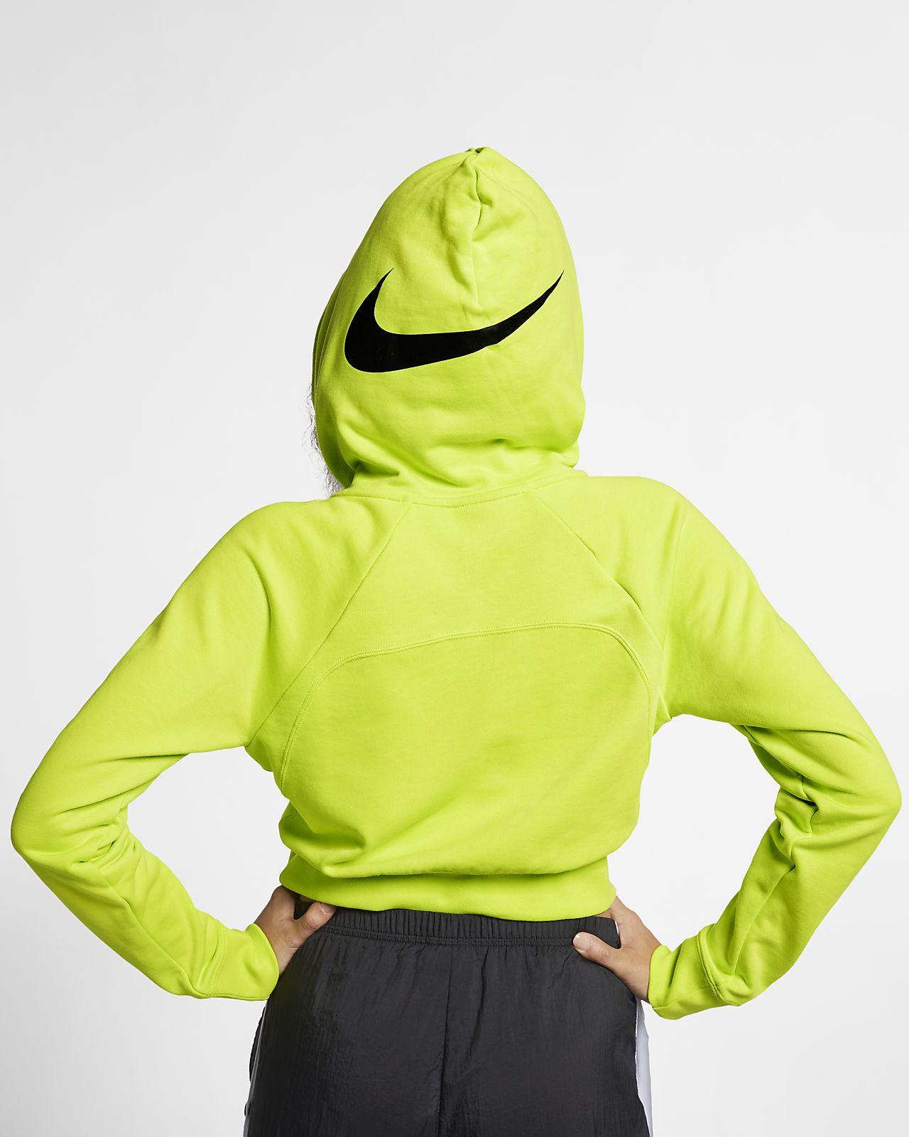 dff0b98fddc5bb Nike Sportswear Swoosh Women s Cropped French Terry Hoodie. Nike.com LU