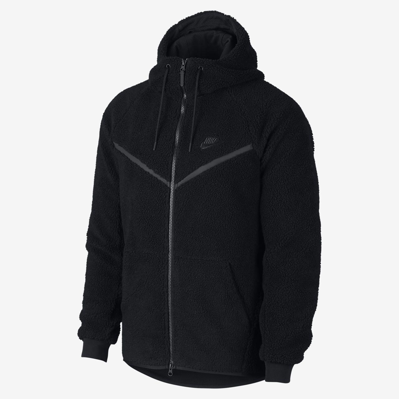 Pánská mikina Sherpa Nike Sportswear Windrunner Tech Fleece s kapucí ... 465dd4af20