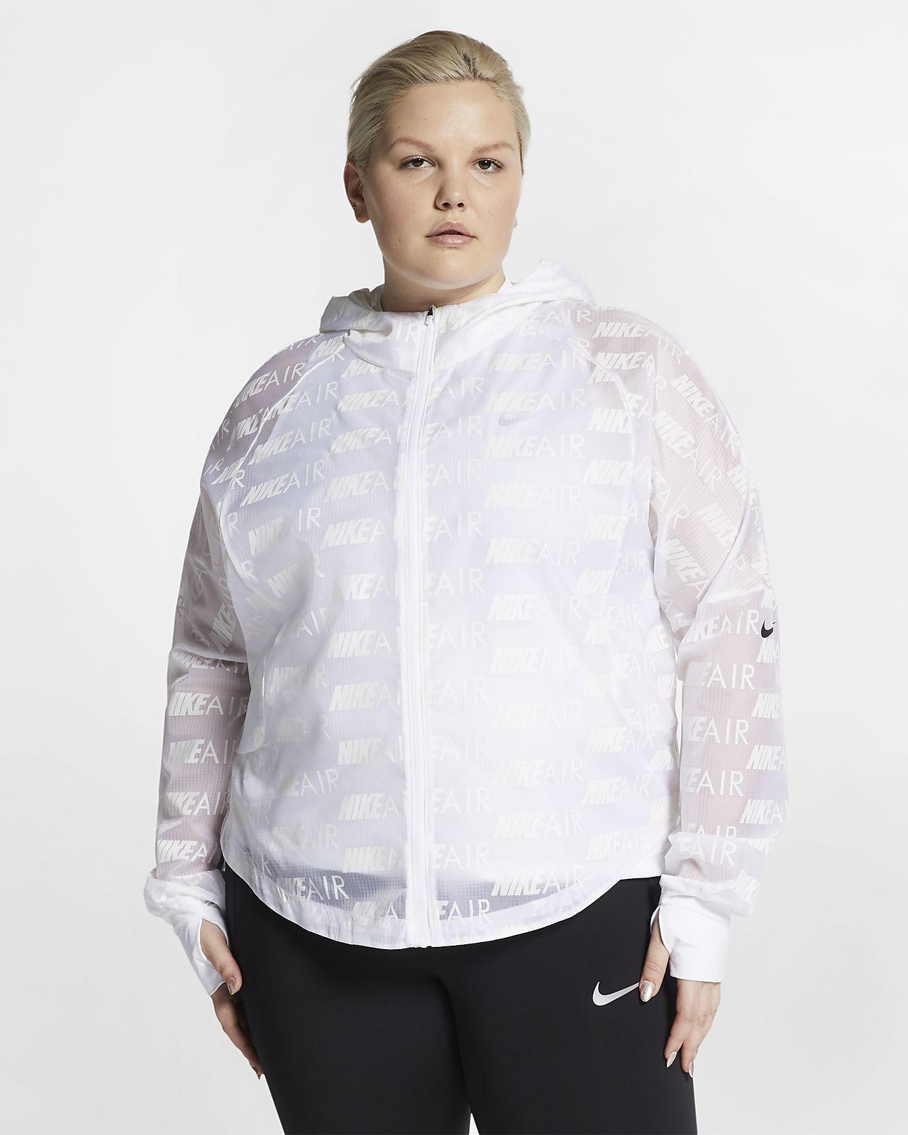 Nike Air Damen-Laufjacke mit Kapuze (große Größe)