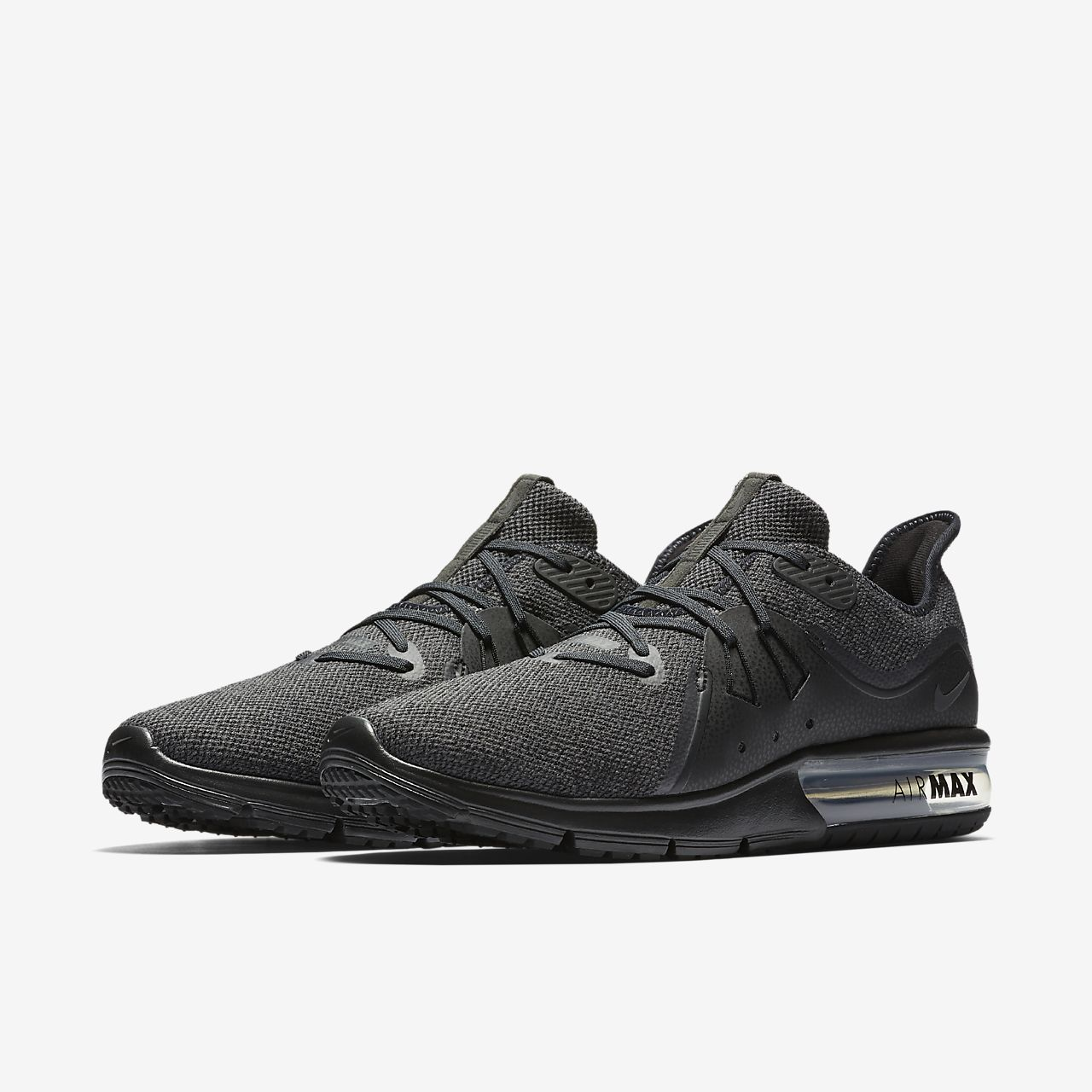 Nike Performance AIR MAX SEQUENT 3 - Neutral running shoes - black/anthracite Ss49bvib7D