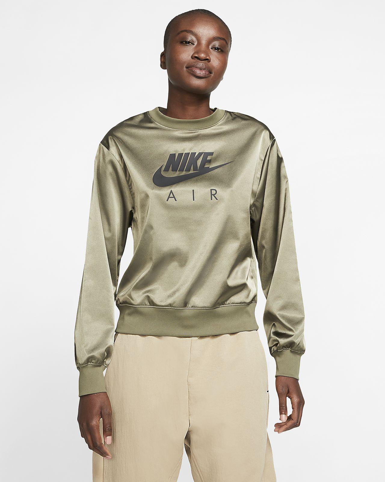 Rundhalsad tröja Nike Air i satin för kvinnor