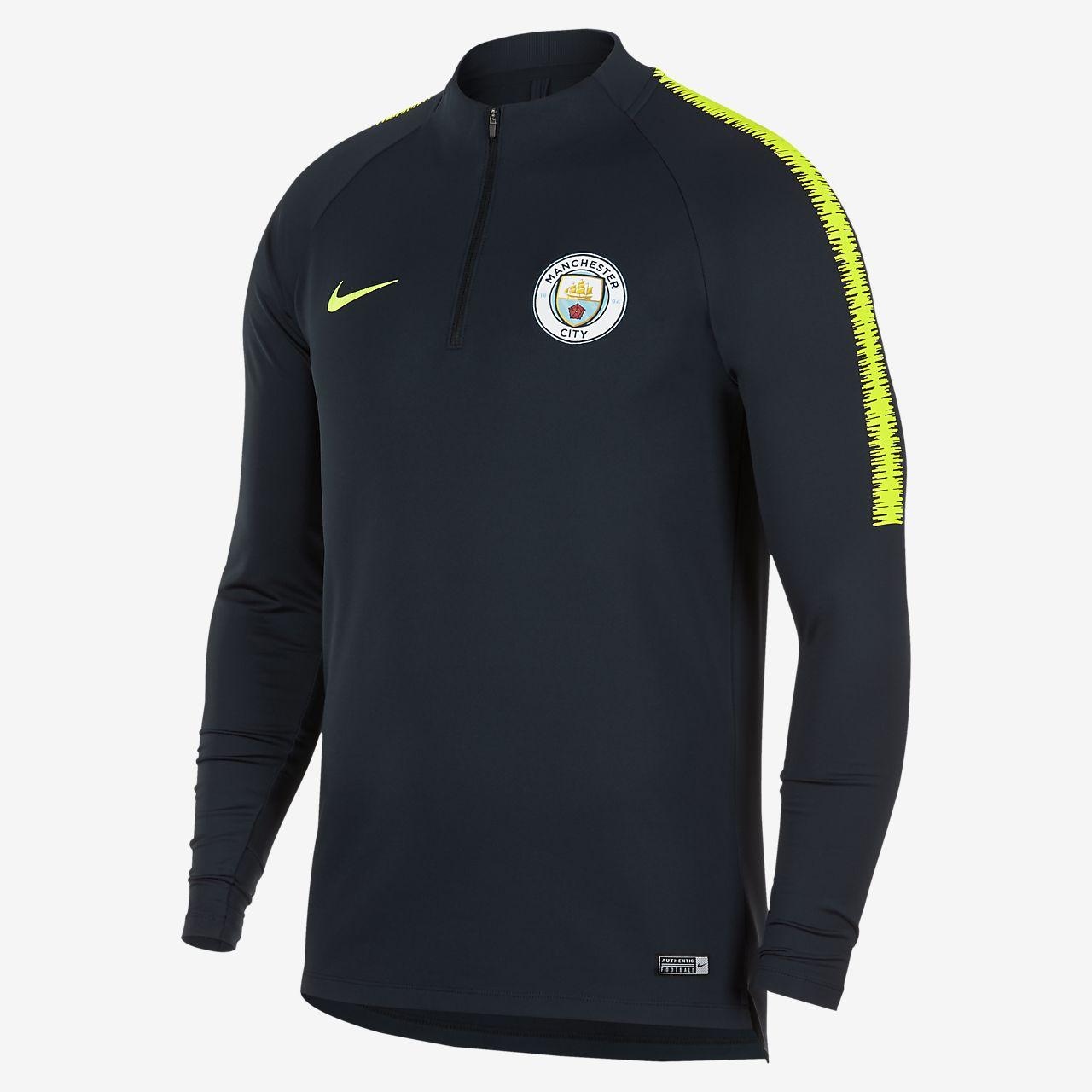 Camisola de futebol de manga comprida Manchester City FC Dri-FIT Squad Drill para homem