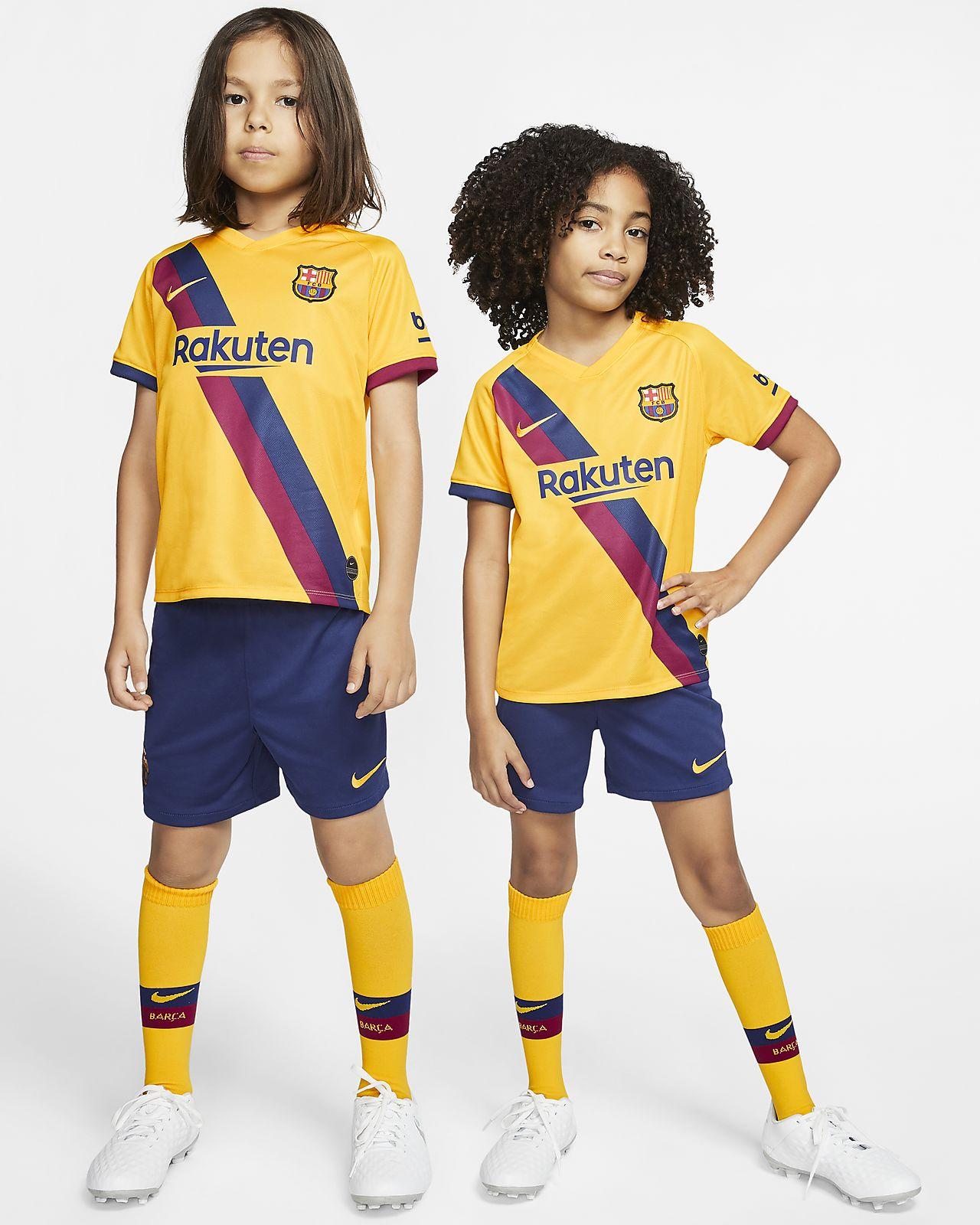 Kit de visitante para niños talla pequeña del FC Barcelona