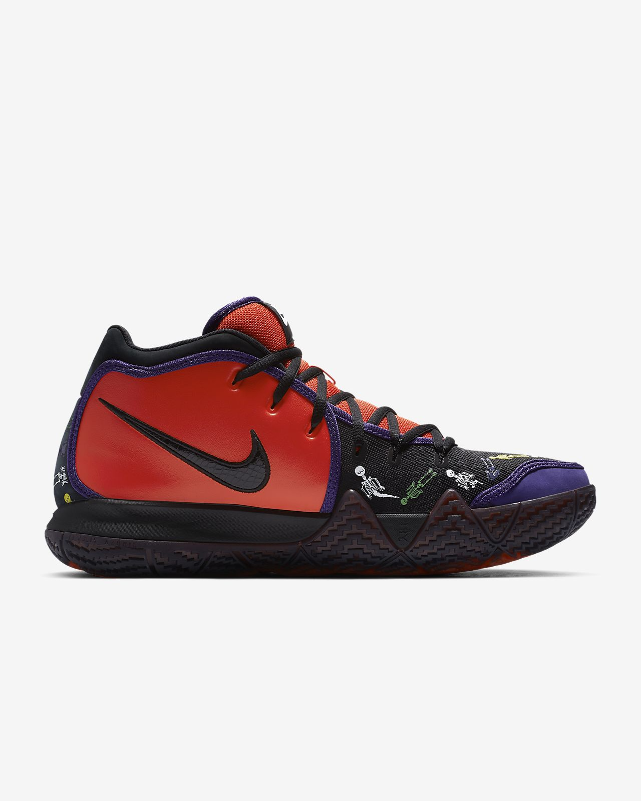 the latest 50000 55482 ... Kyrie 4 Day of the Dead Basketball Shoe
