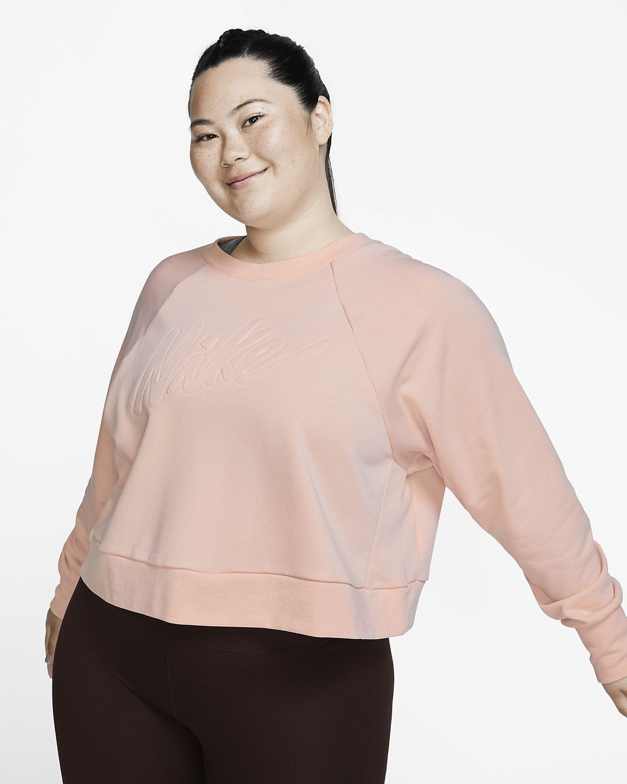 Camisola de treino de manga comprida Nike Dri-FIT para mulher (tamanhos grandes)