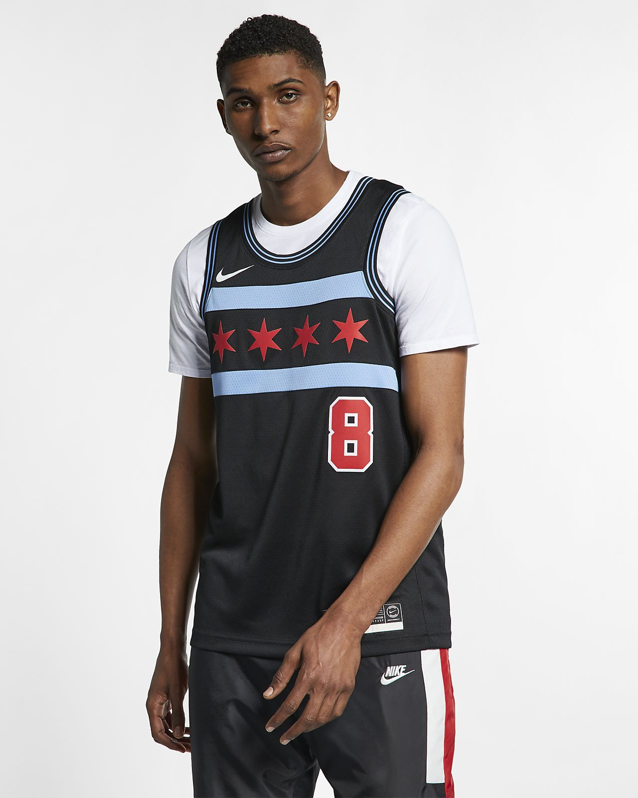 Męska koszulka Nike NBA Connected Jersey Zach LaVine City Edition Swingman (Chicago Bulls)