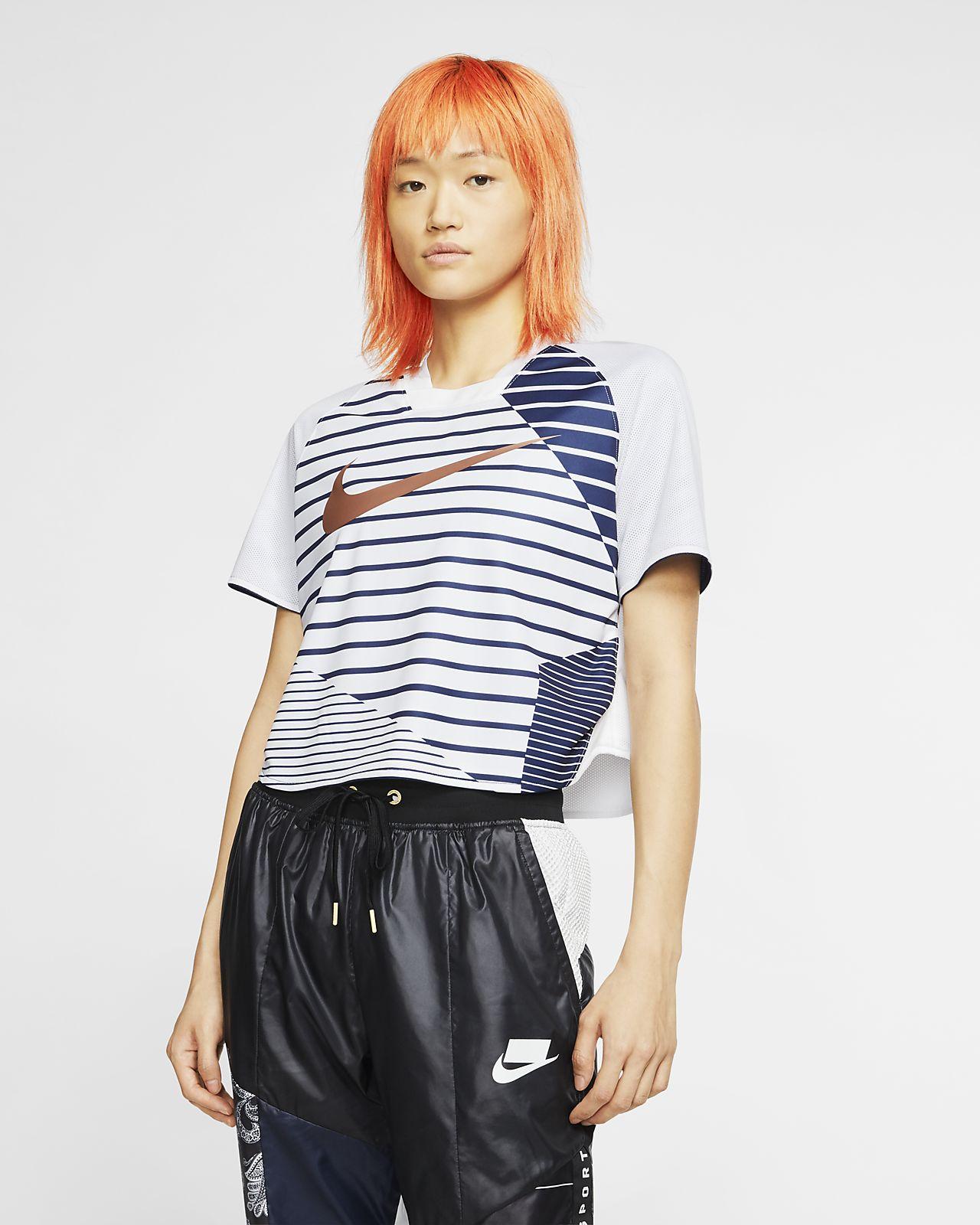 Γυναικεία κοντομάνικη μπλούζα σε κοντό μήκος Nike Sportswear Dri-FIT Unité Totale
