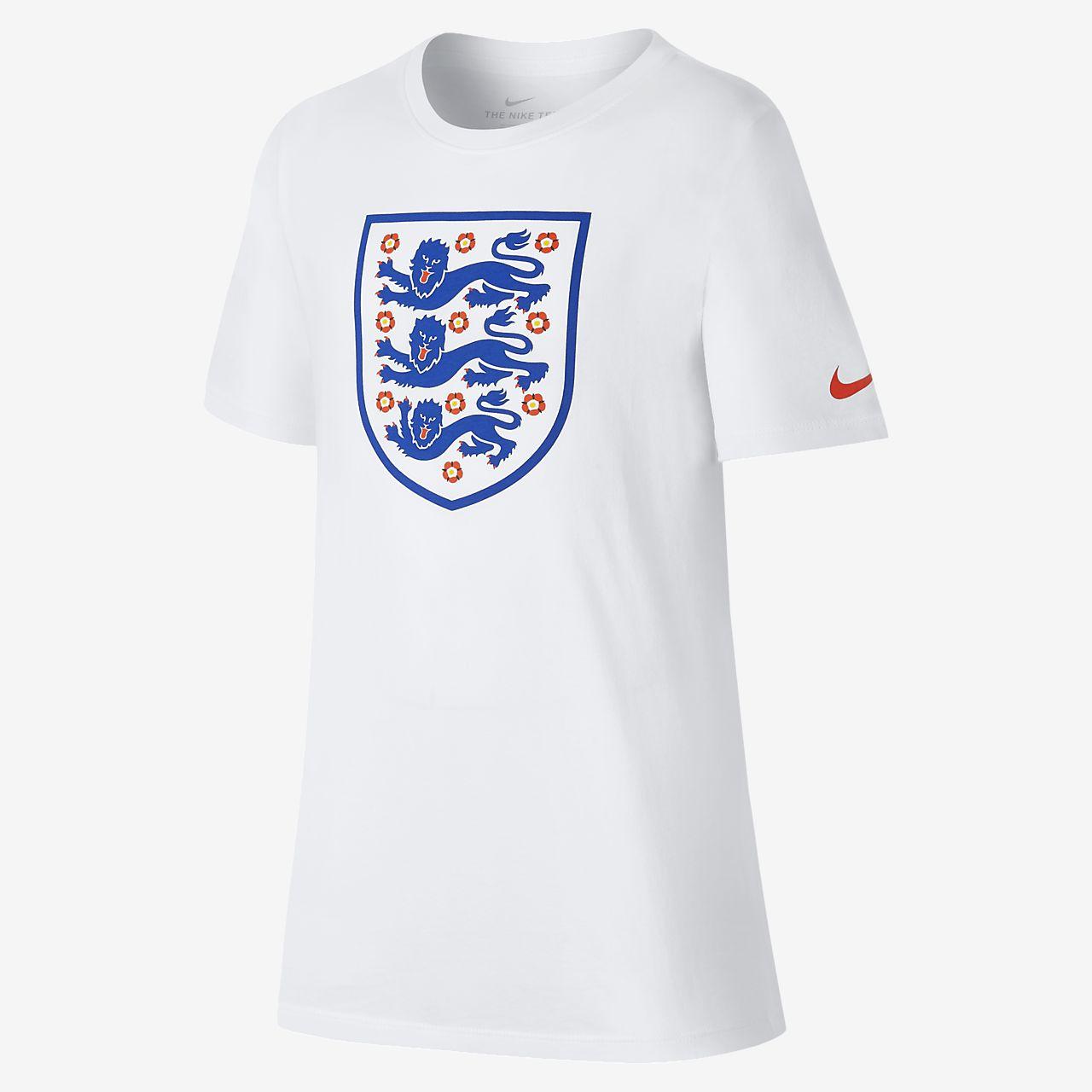 England Crest T-skjorte til store barn (gutt)