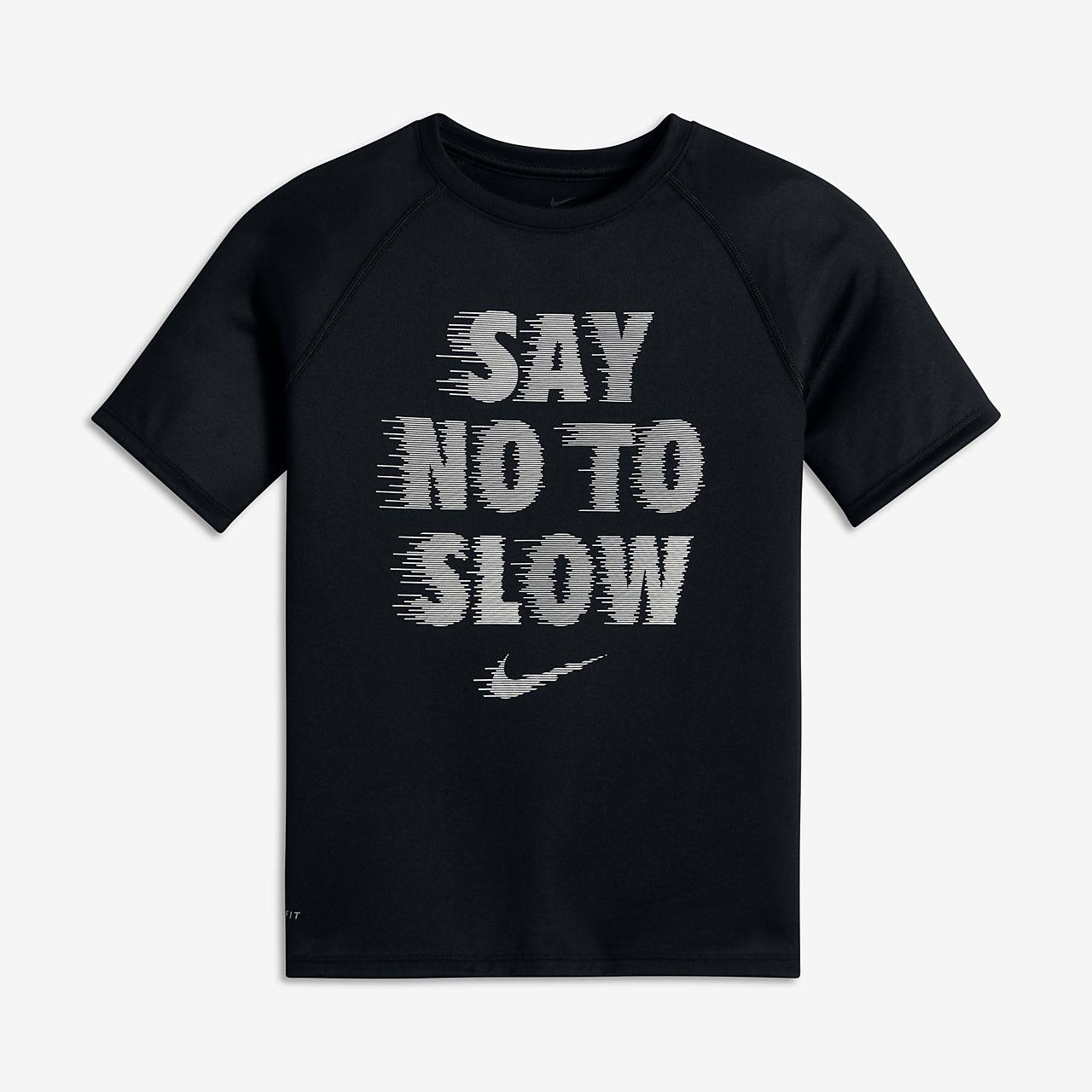 nike dry say no to slow t shirt f r ltere kinder jungen lu. Black Bedroom Furniture Sets. Home Design Ideas