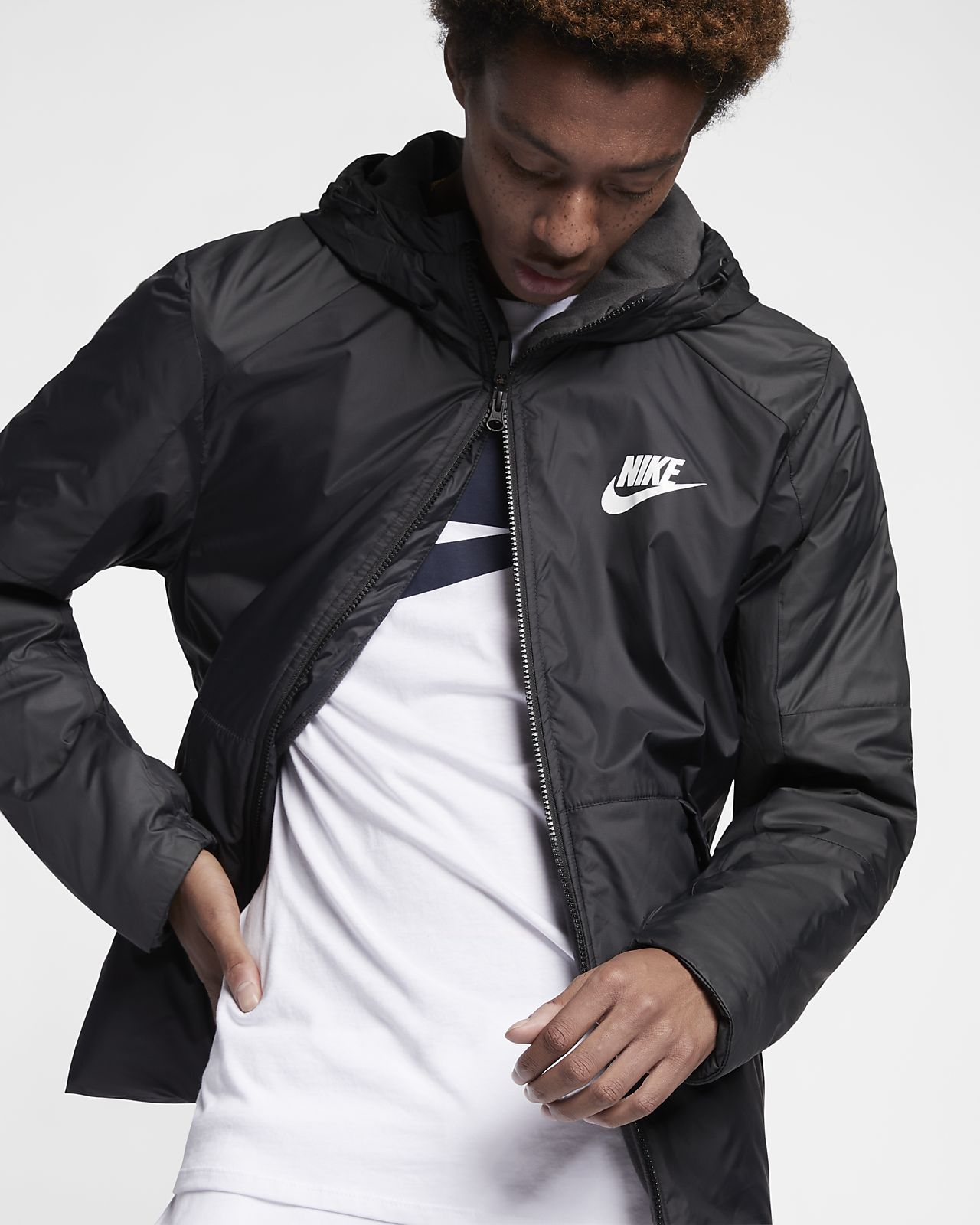 best sale sold worldwide super specials Nike Sportswear Synthetic Fill Fleece-Jacke mit Kapuze für Herren
