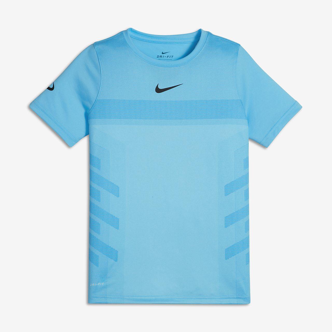 Tennis-t-shirt NikeCourt Rafa för ungdom (killar)