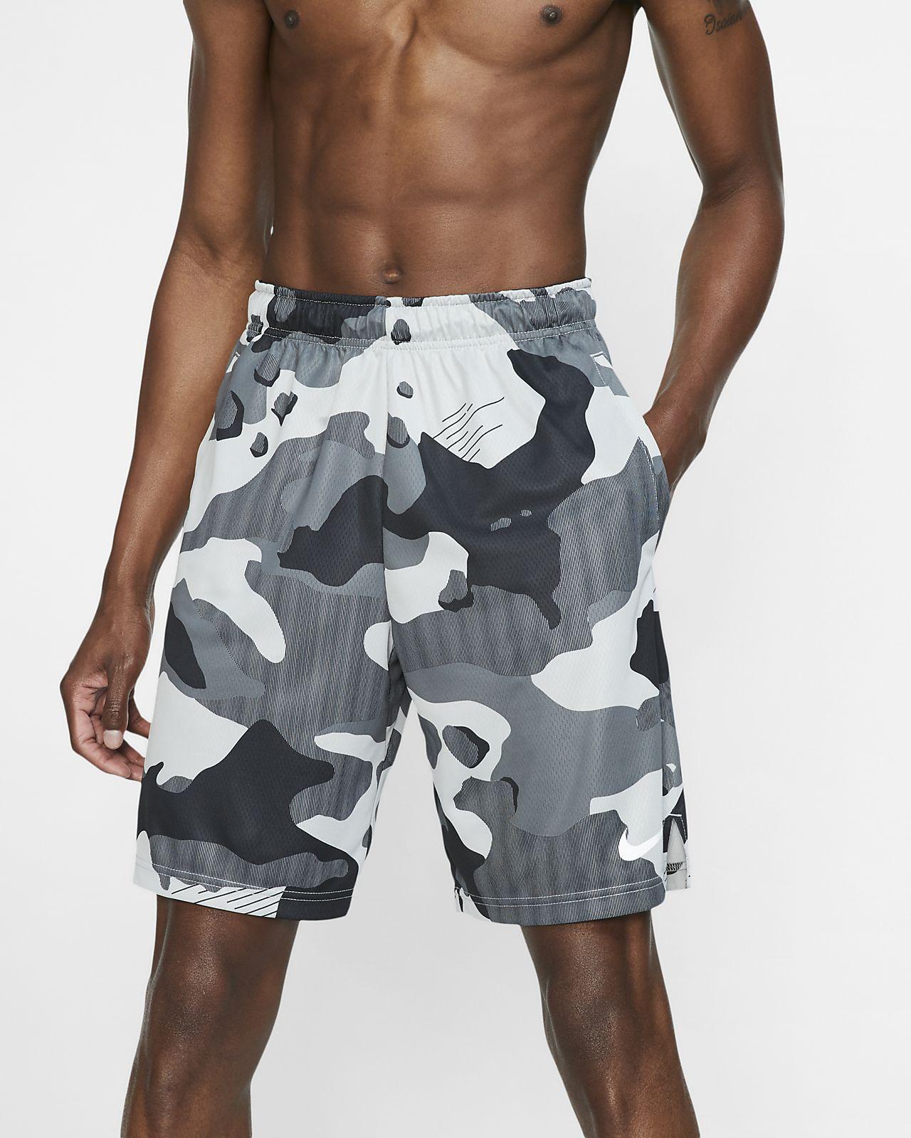 Nike Dri-FIT terepmintás férfi edzőrövidnadrág